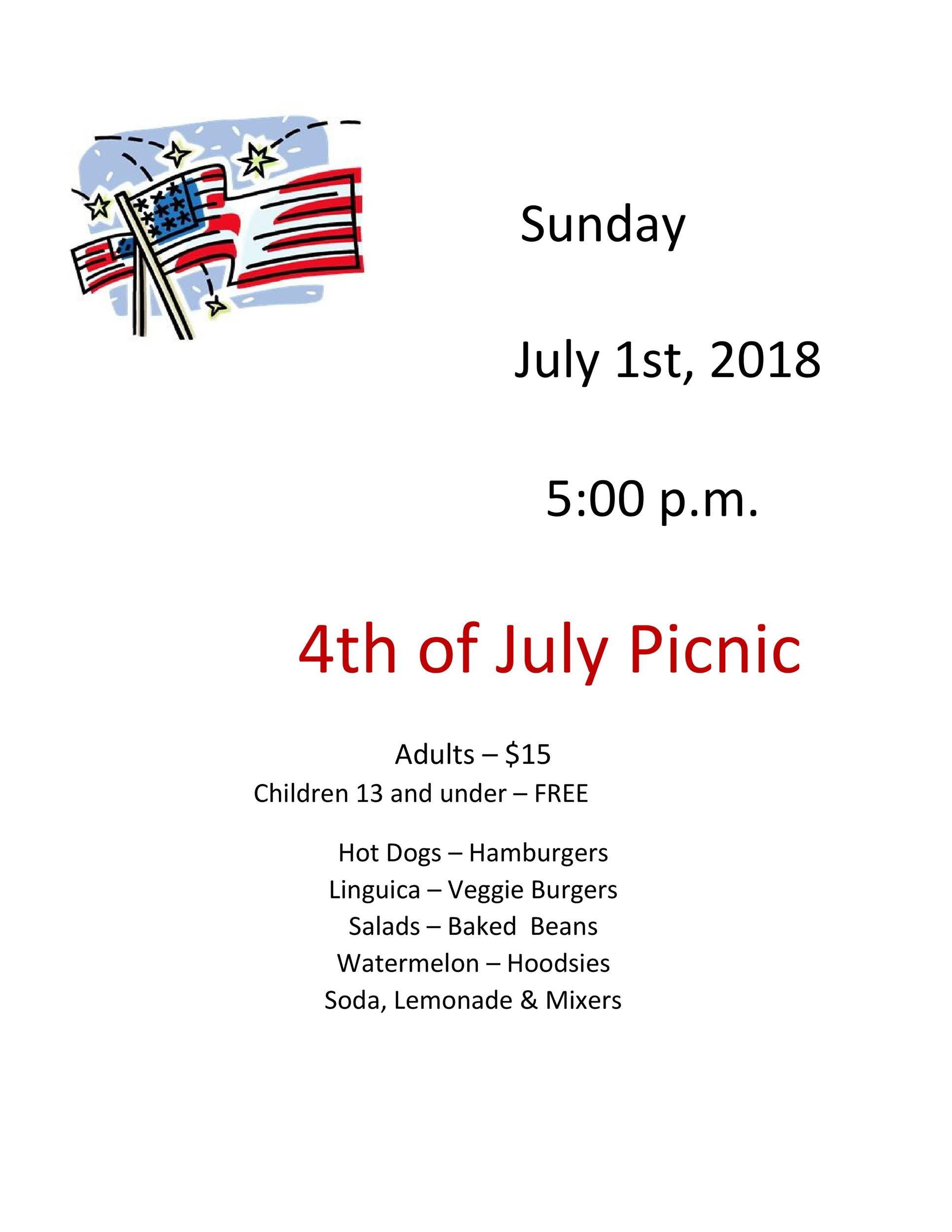 Free picnic flyer template 12