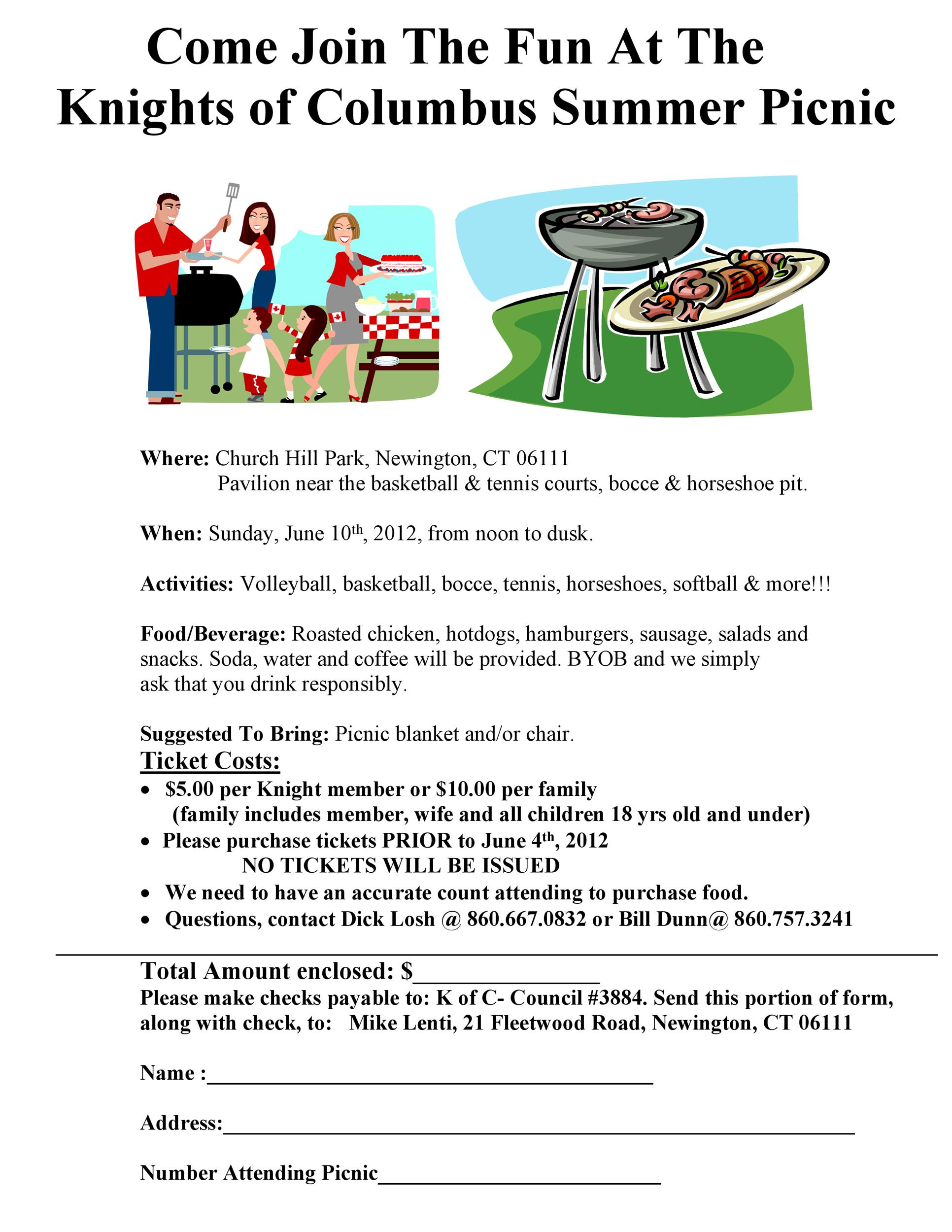 Free picnic flyer template 45