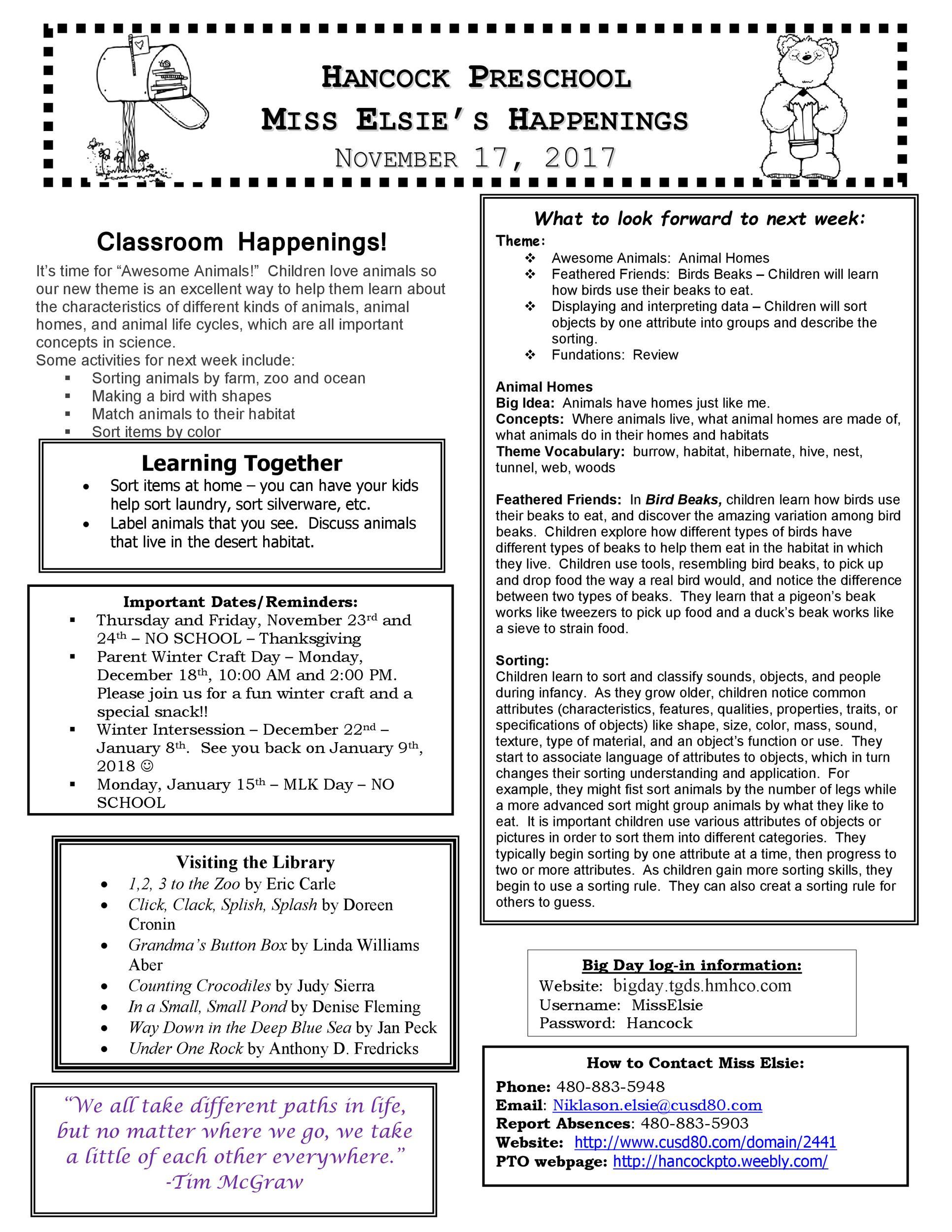 Free preschool newsletter template 02