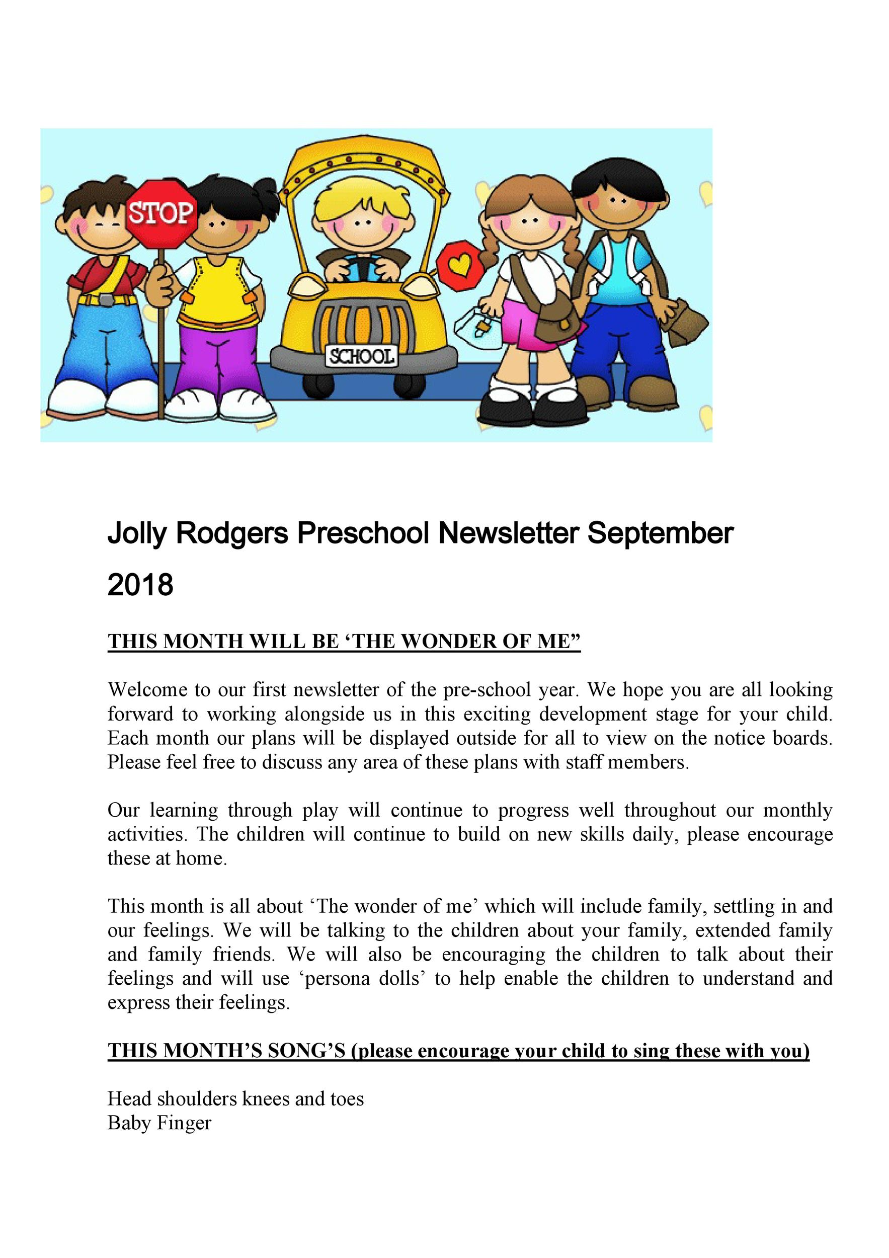 Free preschool newsletter template 04
