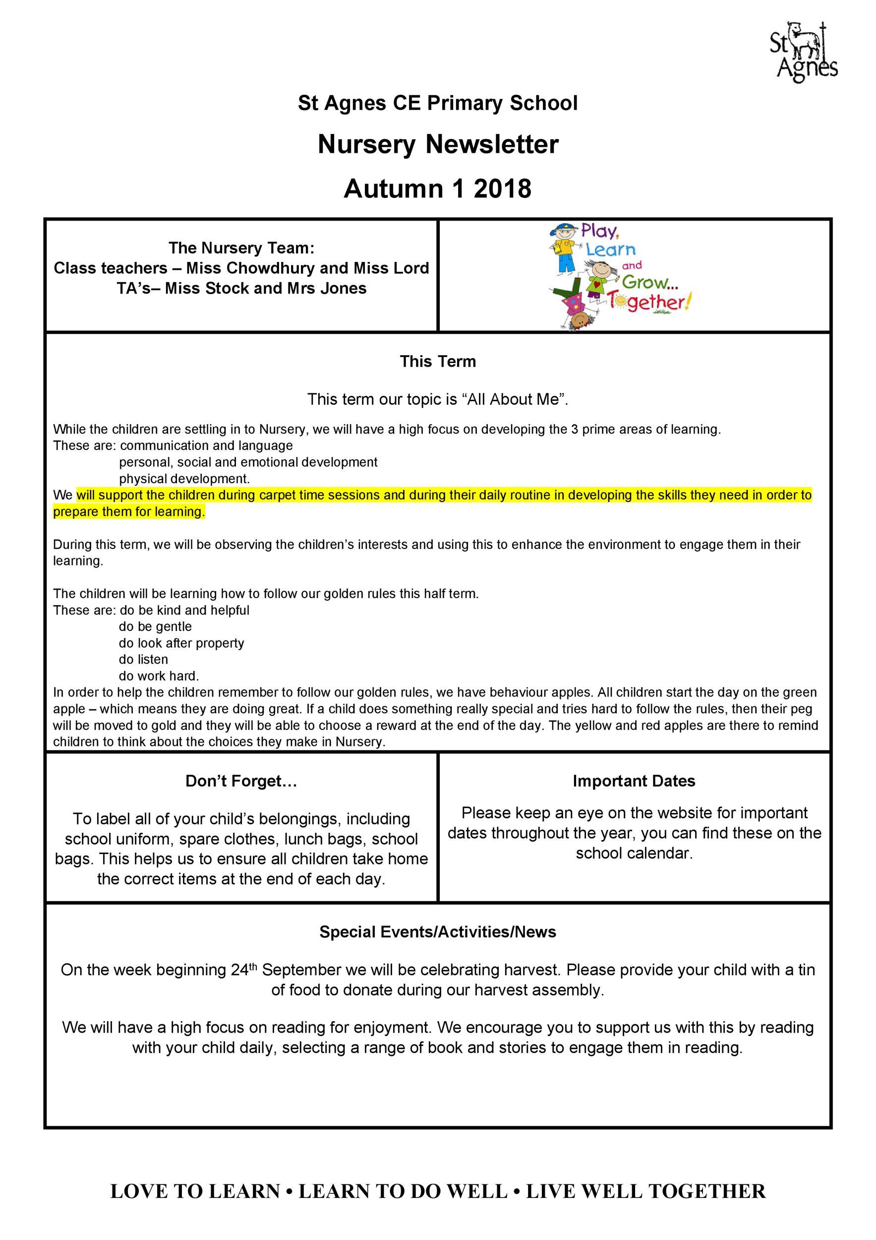 Free preschool newsletter template 05
