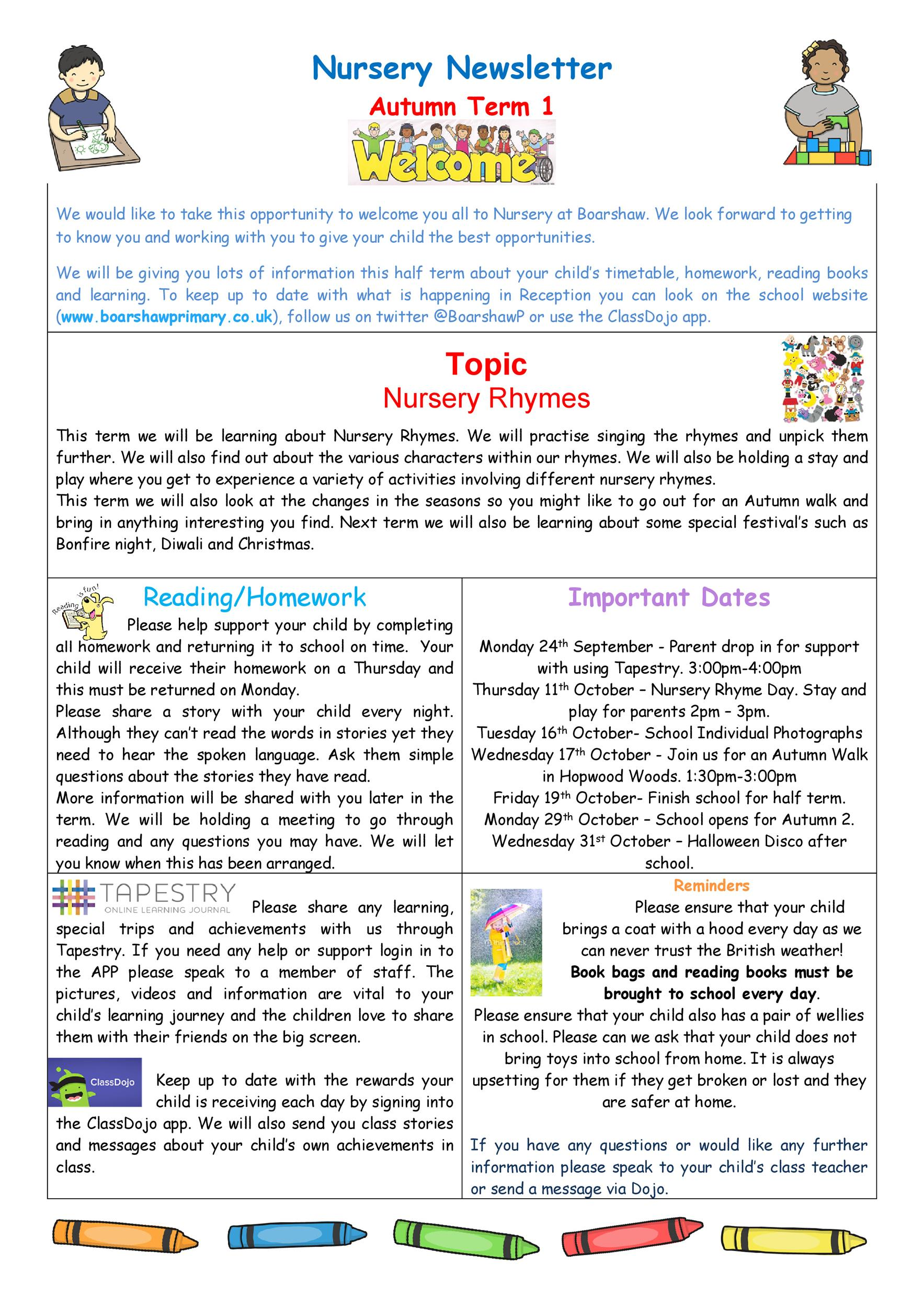 Free preschool newsletter template 06