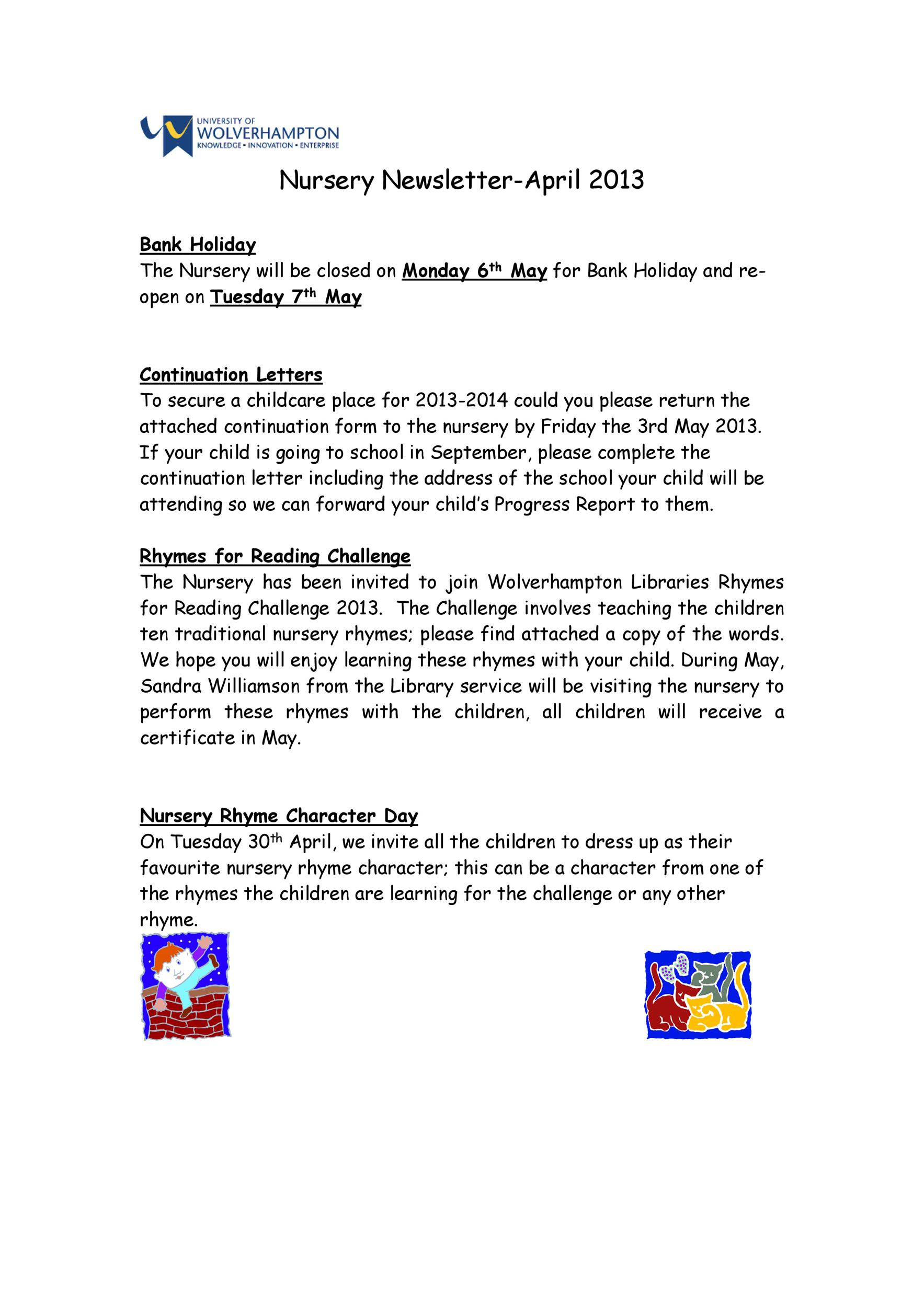 Free preschool newsletter template 07