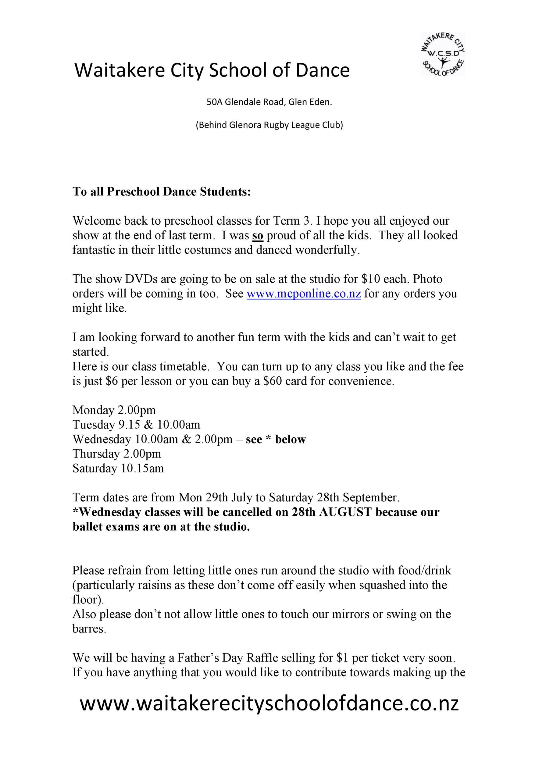 Free preschool newsletter template 09