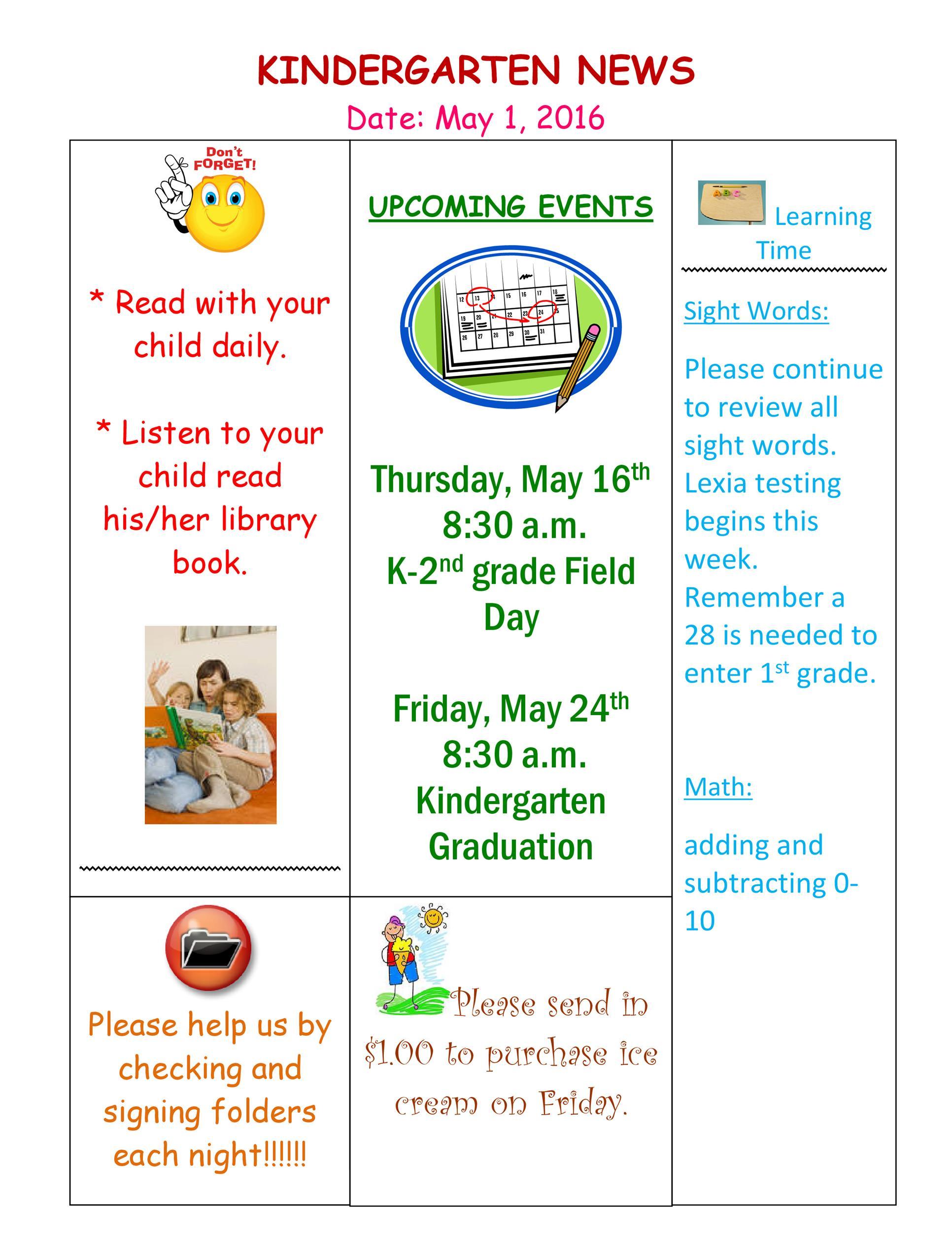 Free preschool newsletter template 13