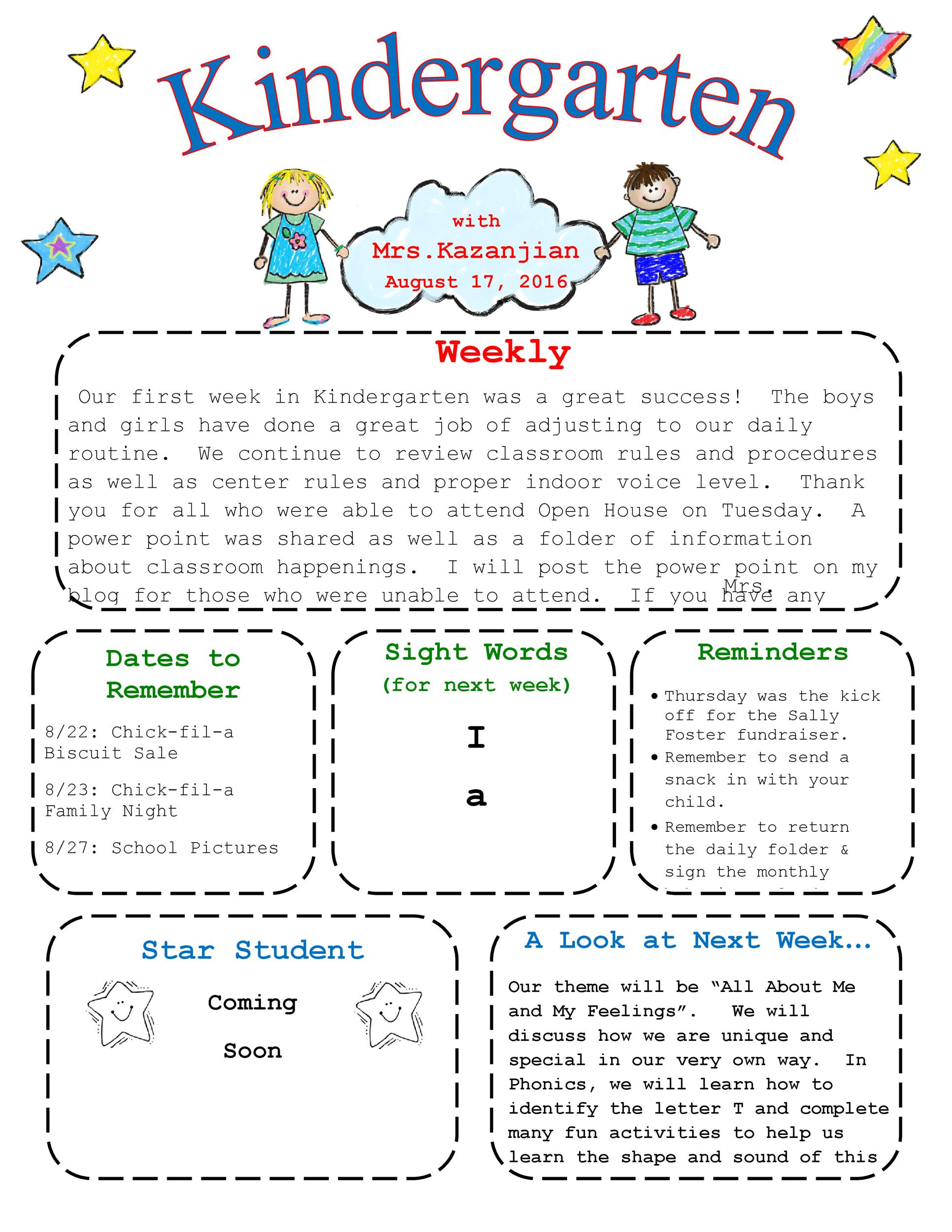 Free preschool newsletter template 14