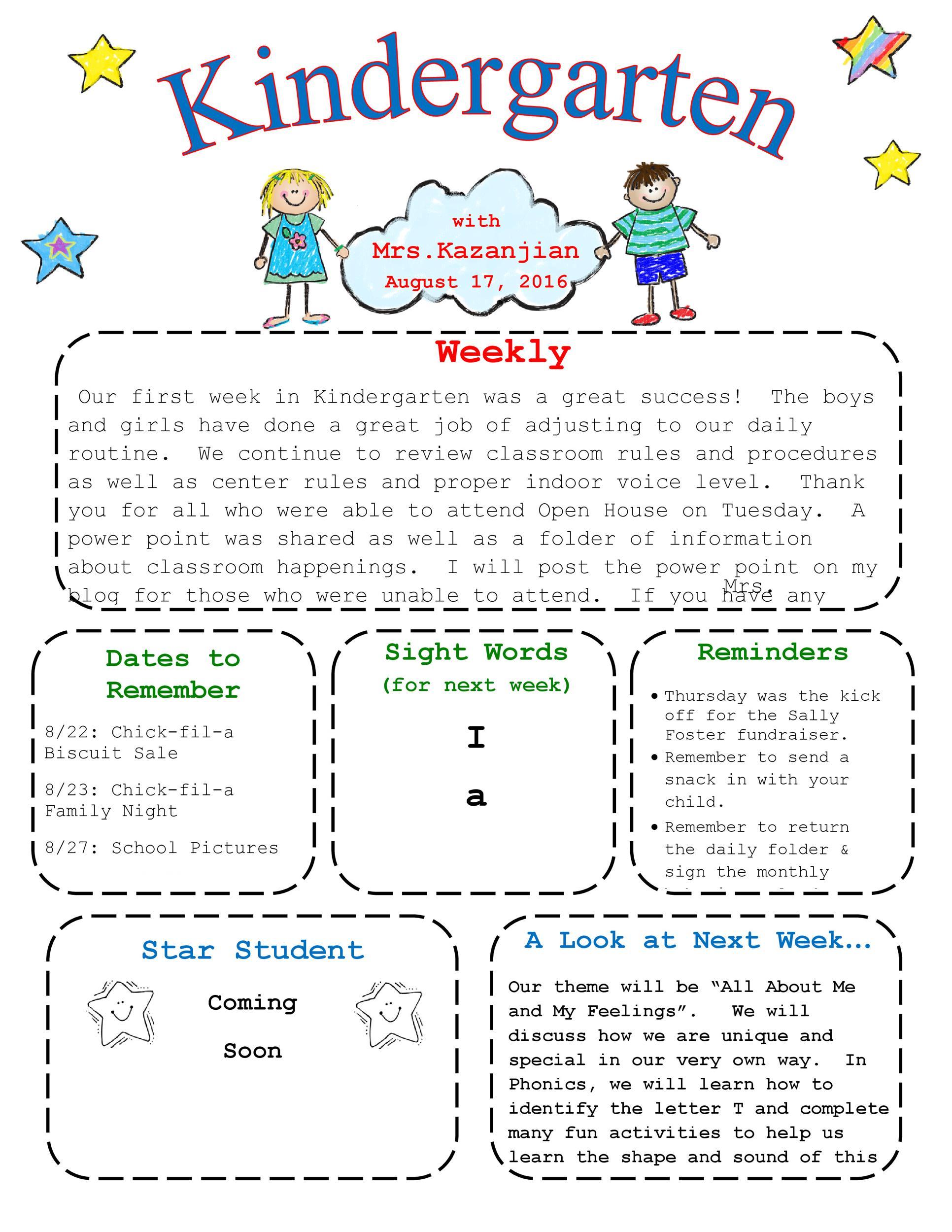 Free preschool newsletter template 14