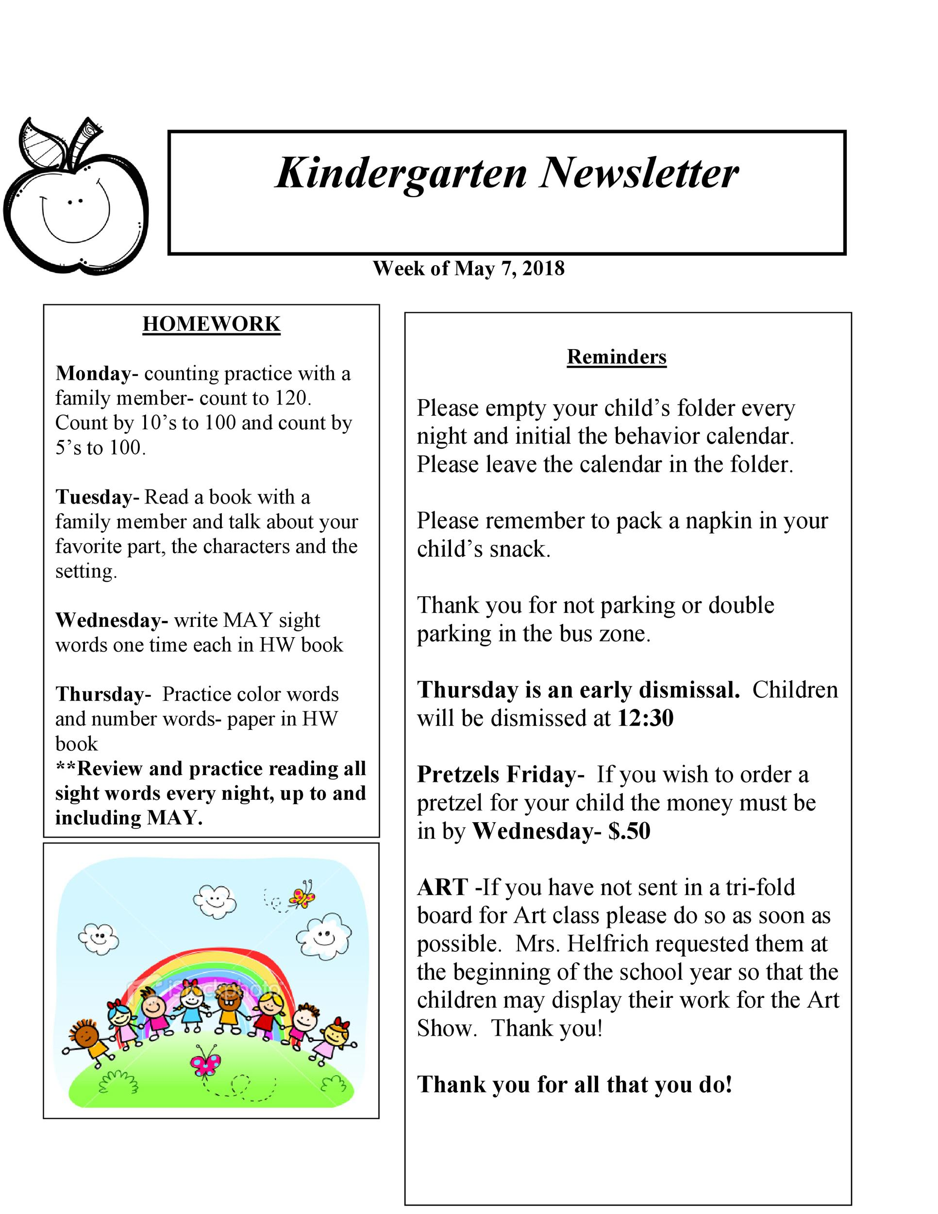 Free preschool newsletter template 16