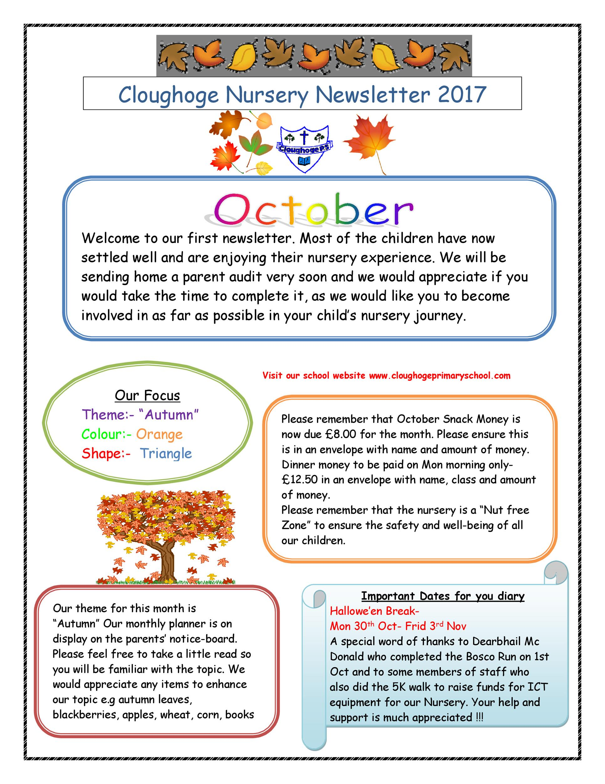 Free preschool newsletter template 17