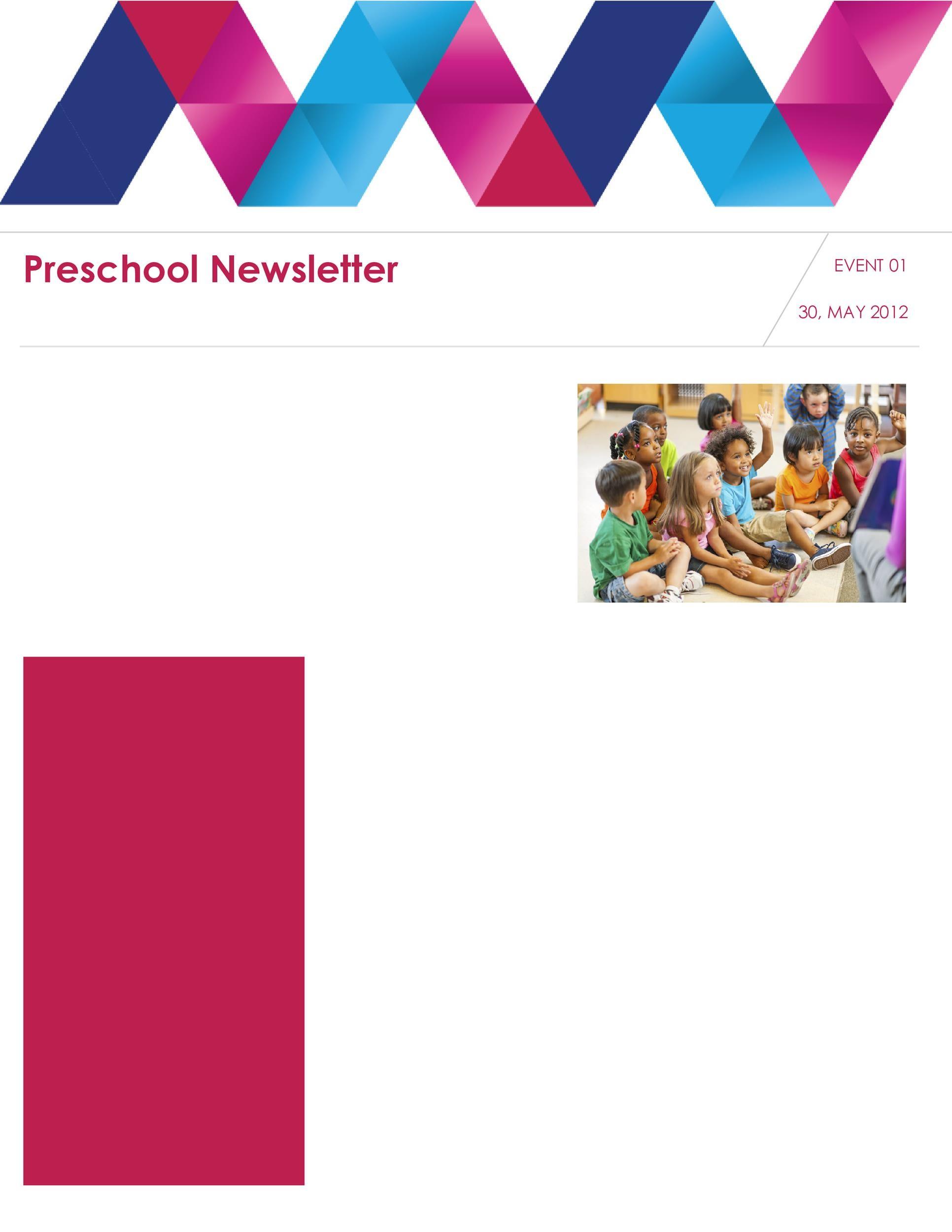 Free preschool newsletter template 24