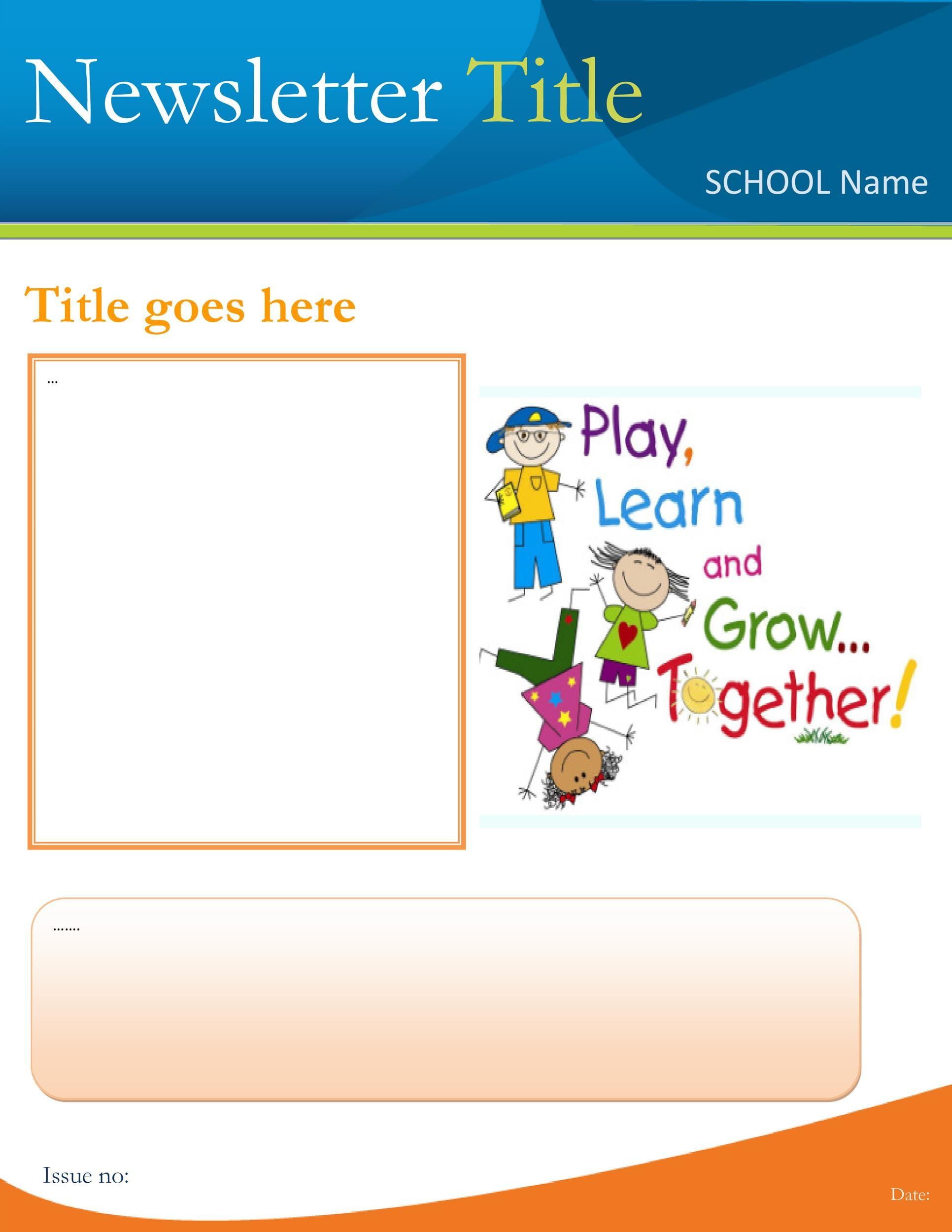 Free preschool newsletter template 26