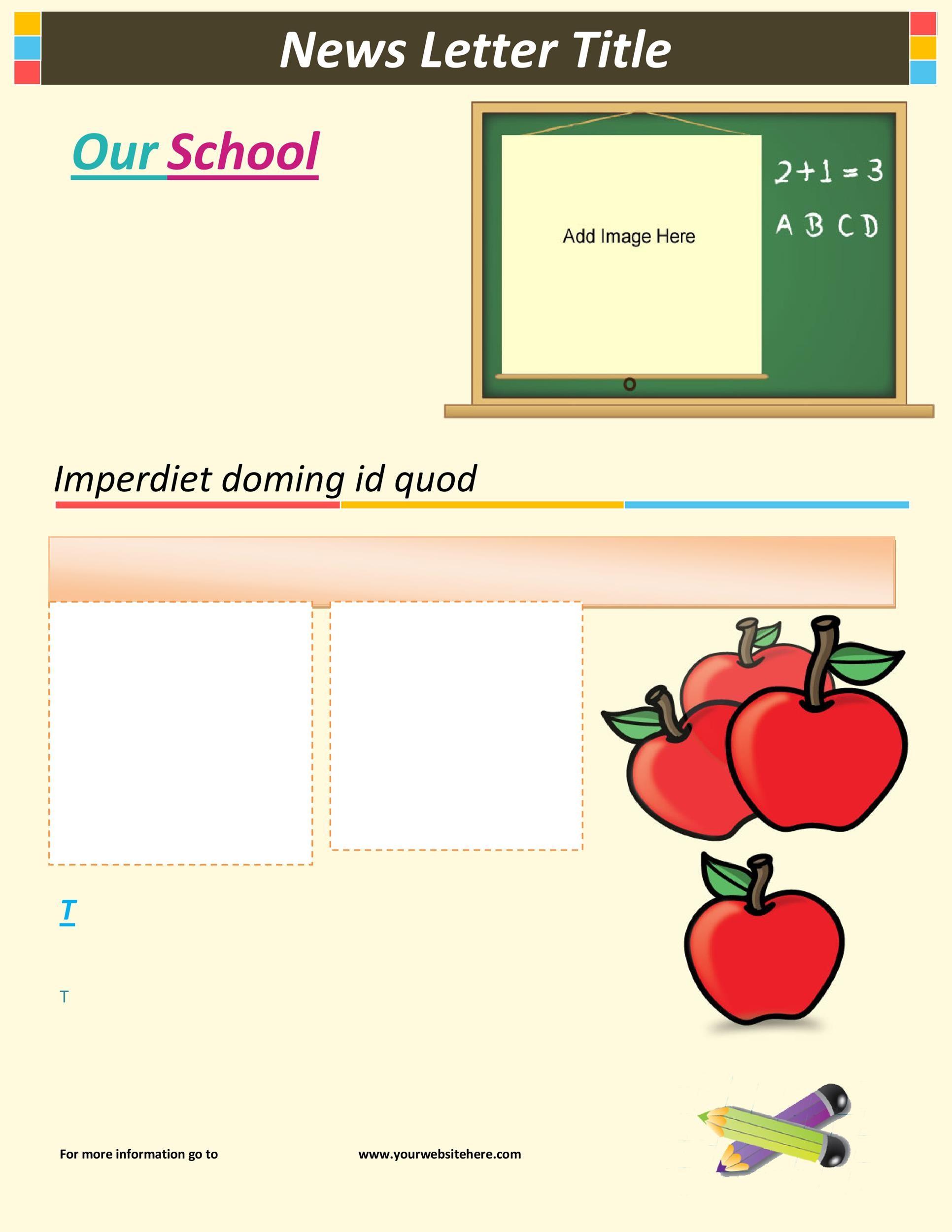 Free preschool newsletter template 28