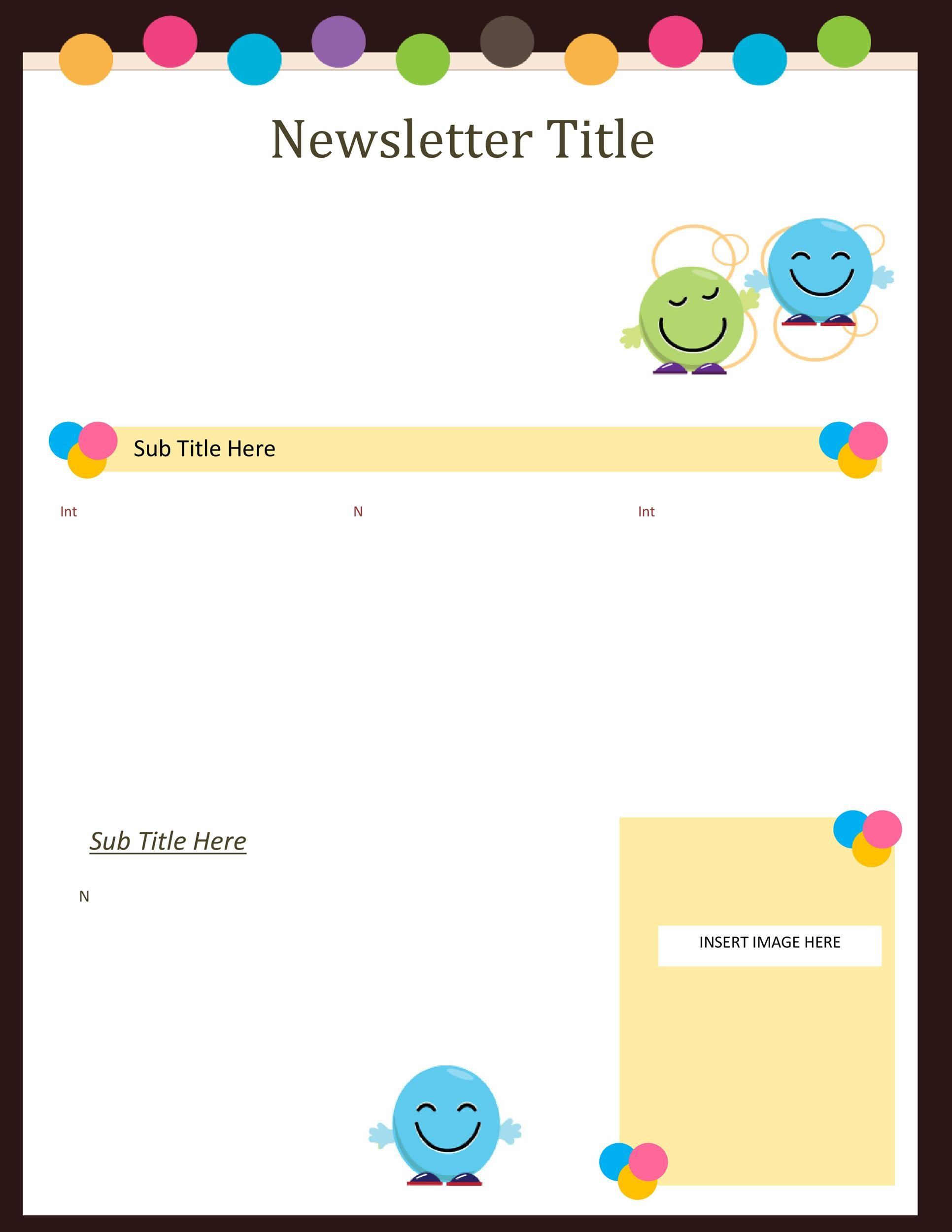 Free preschool newsletter template 29