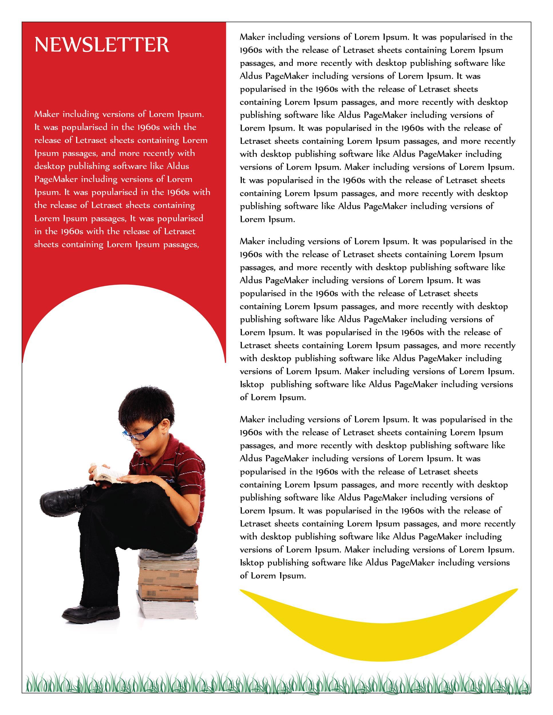 Free preschool newsletter template 30