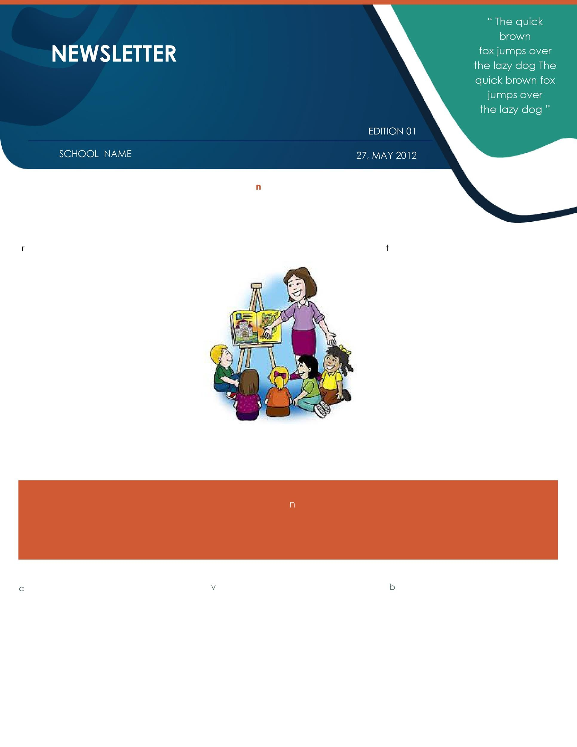 Free preschool newsletter template 31