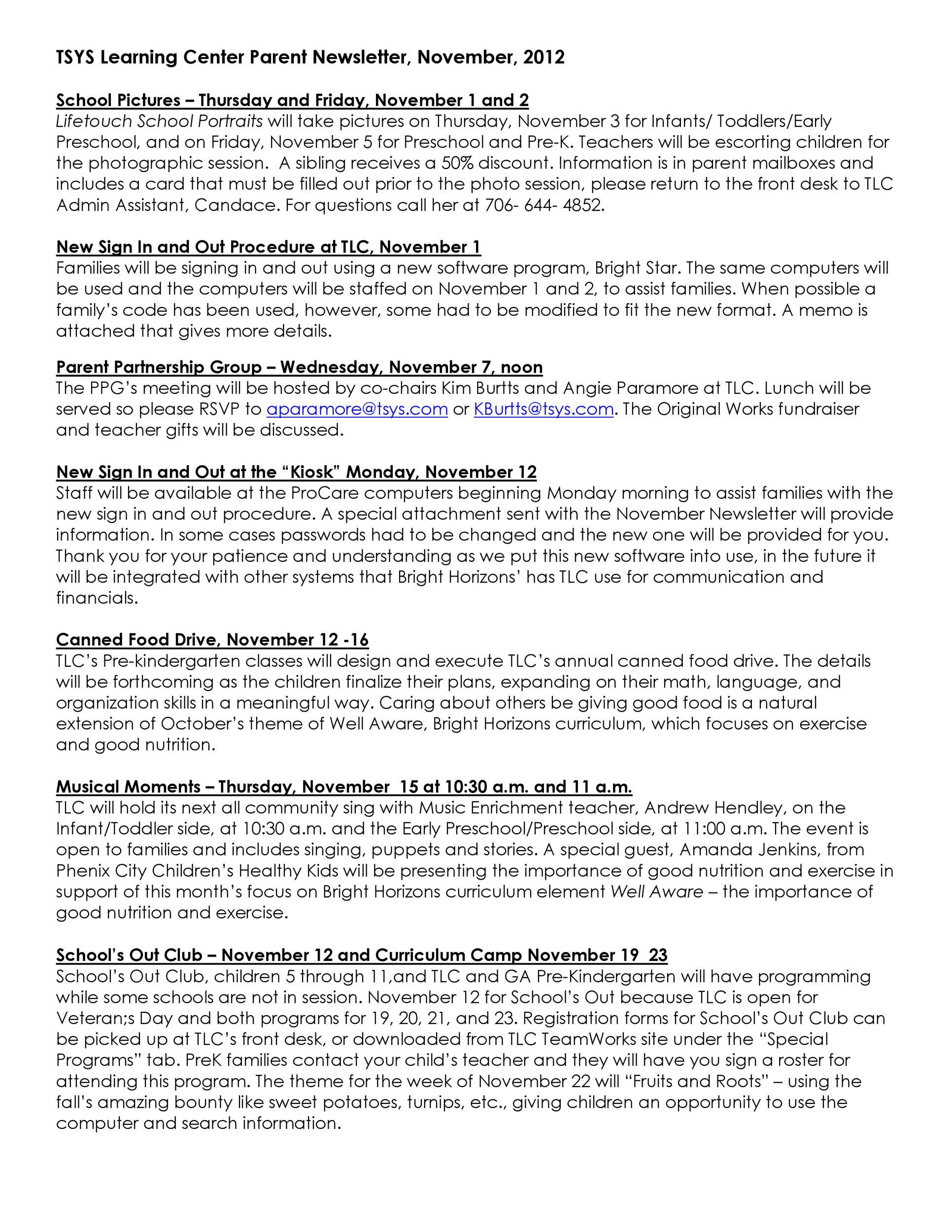 Free preschool newsletter template 32