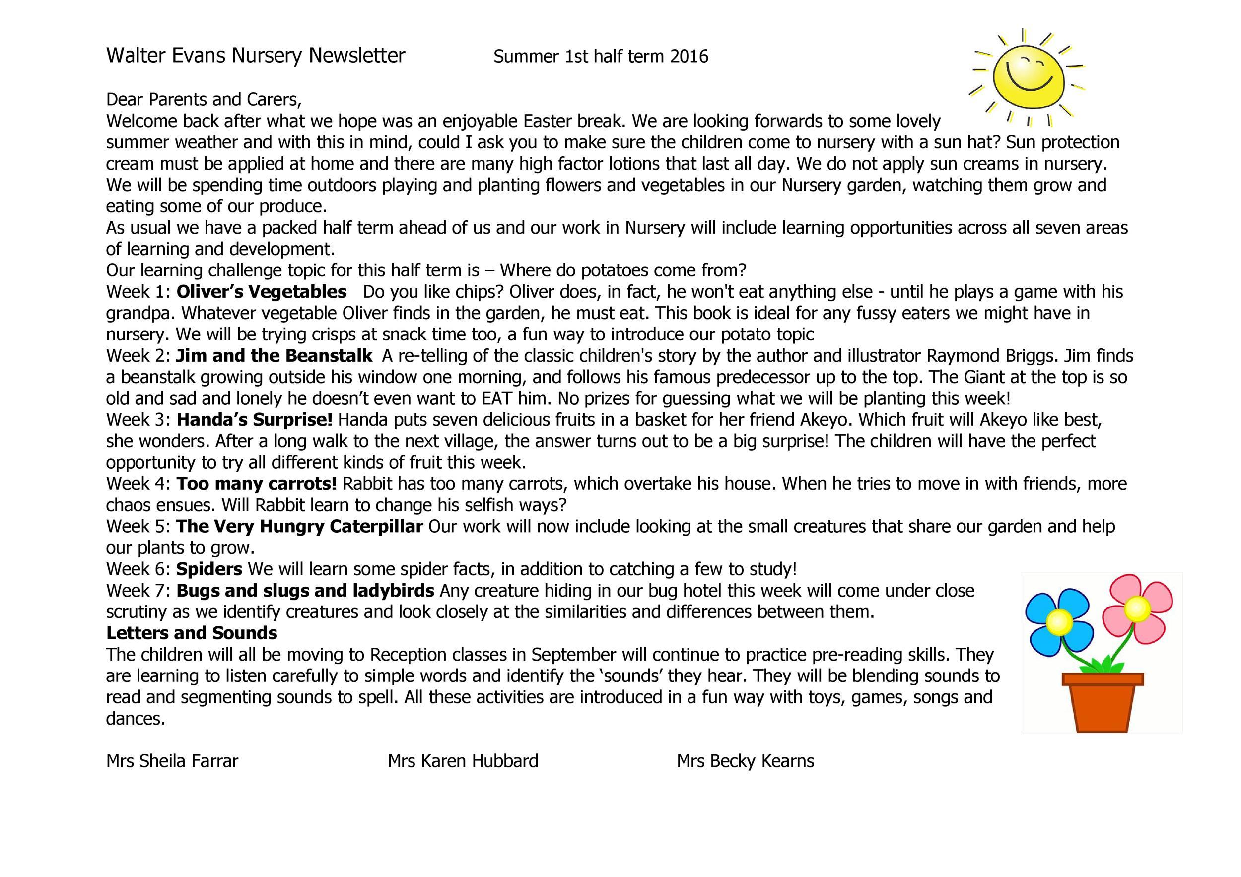 Free preschool newsletter template 33