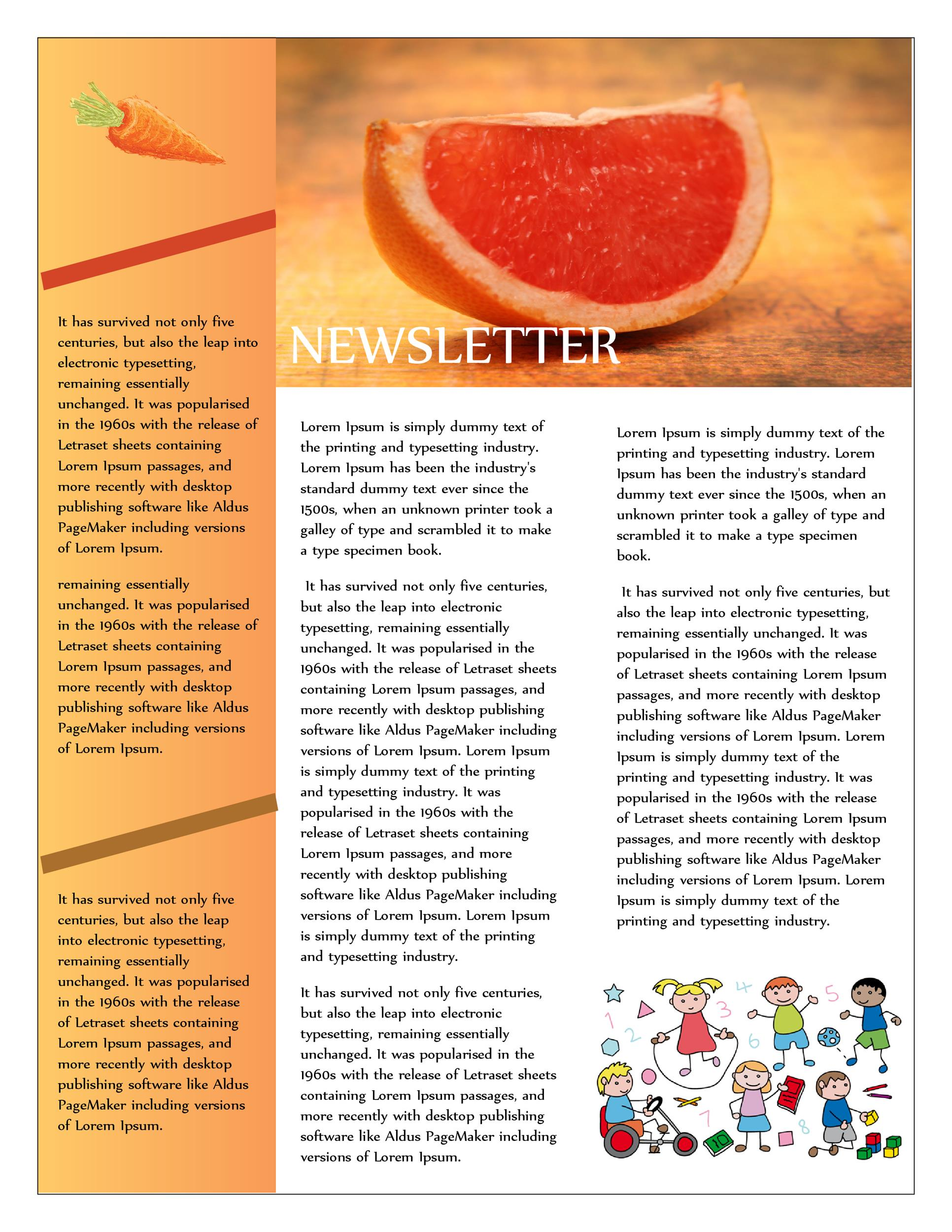 Free preschool newsletter template 34