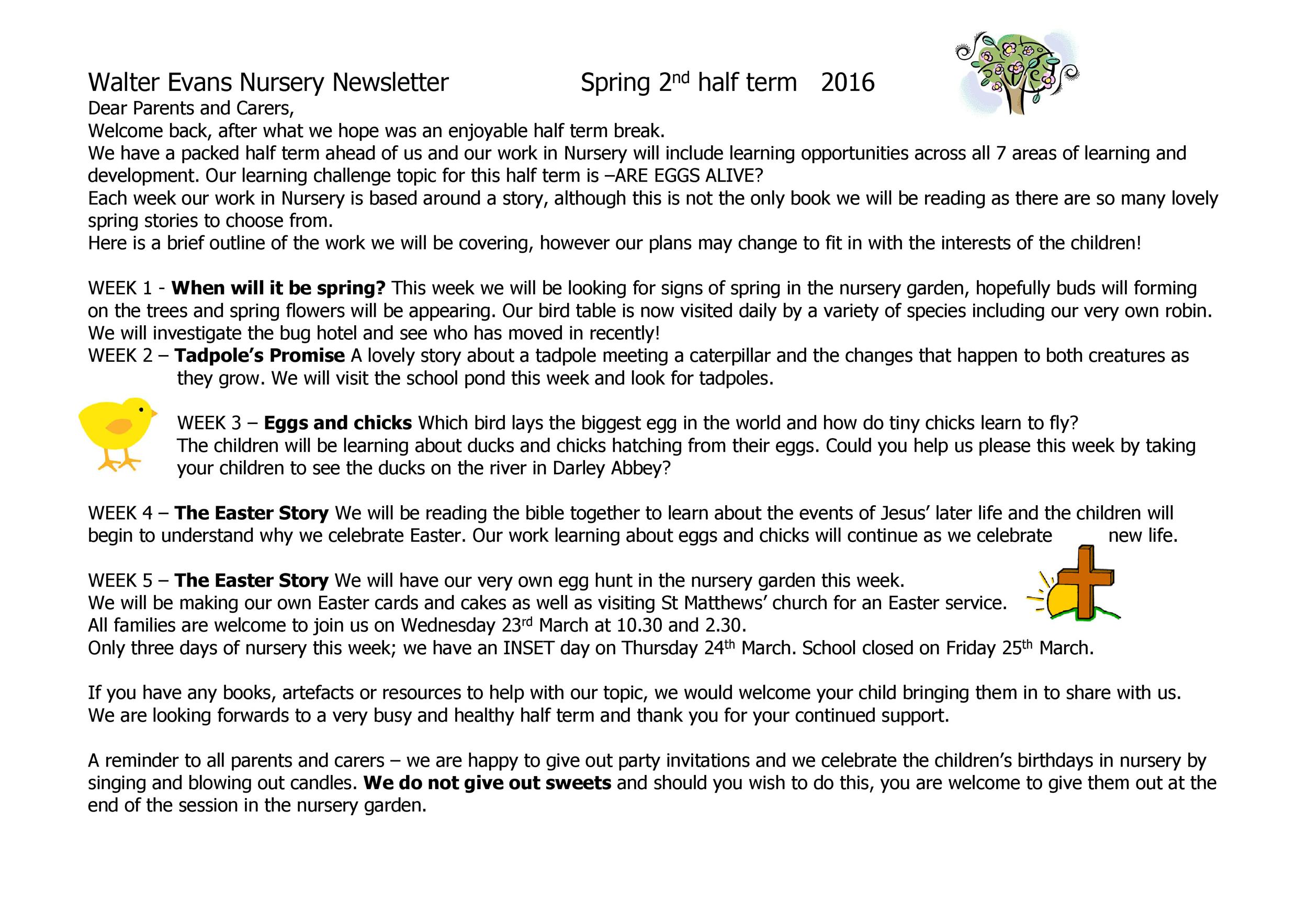 Free preschool newsletter template 35