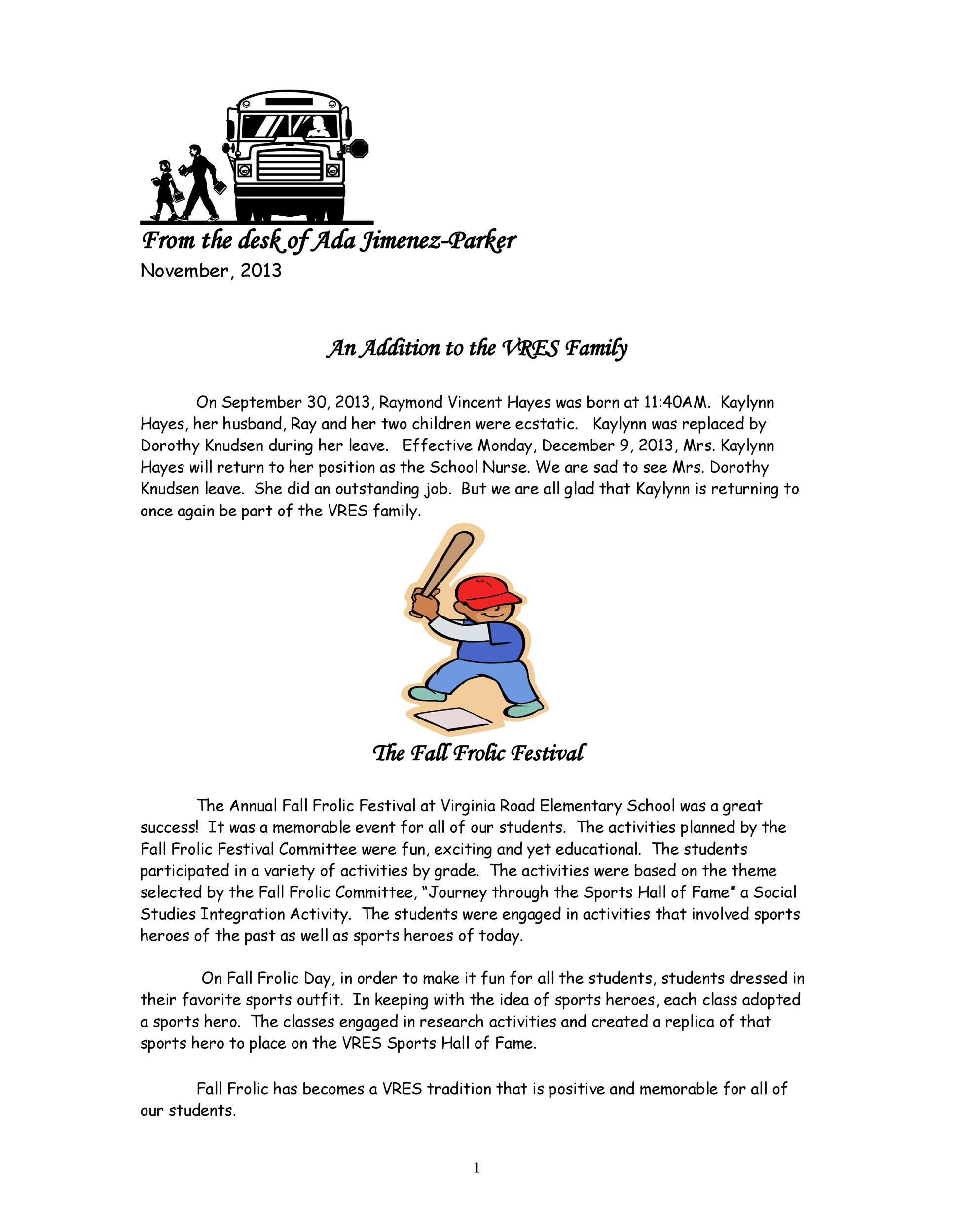 Free preschool newsletter template 36
