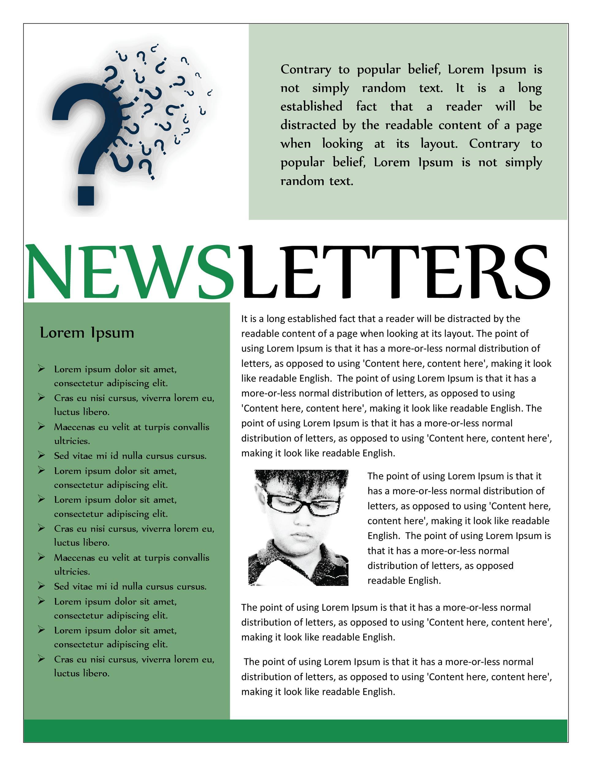 Free preschool newsletter template 38