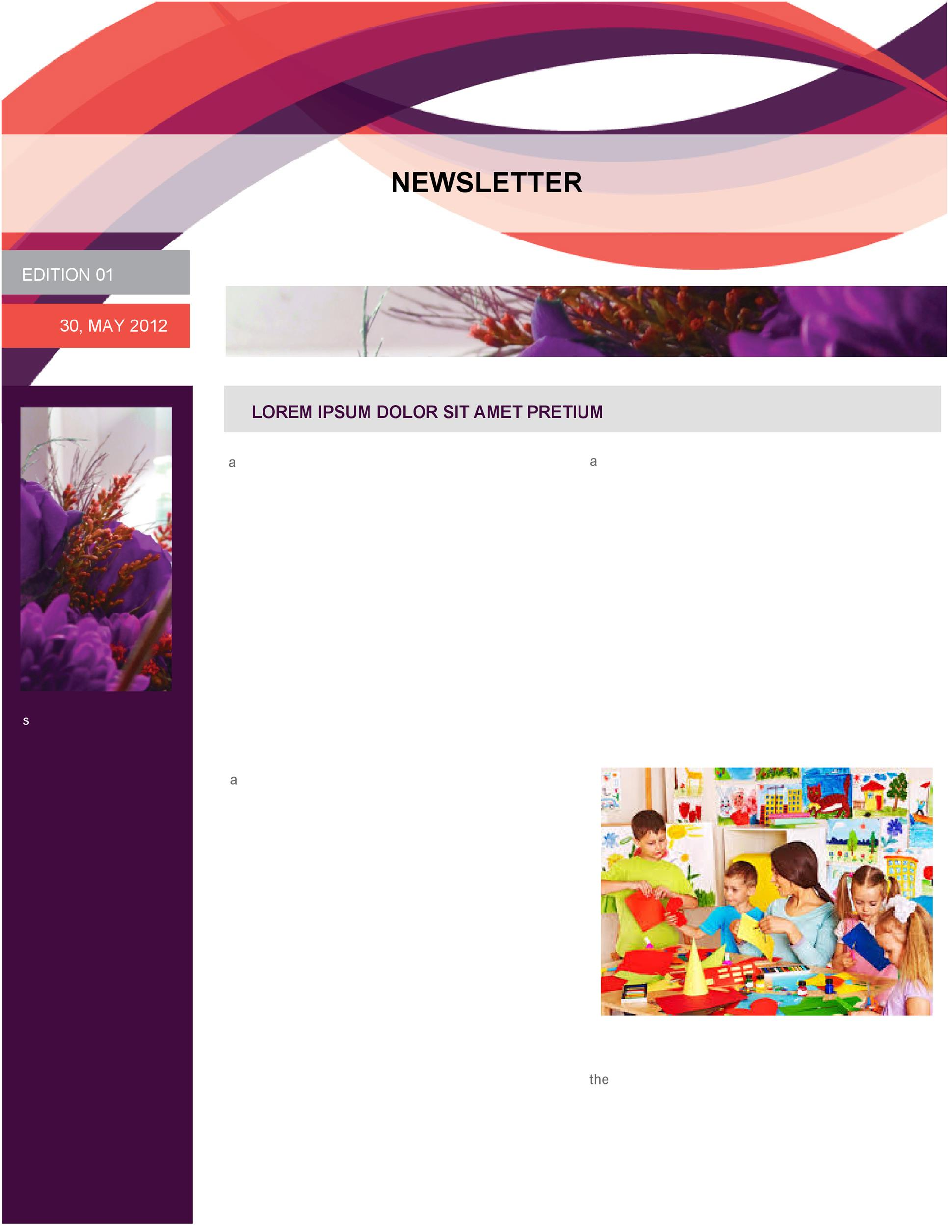 Free preschool newsletter template 40