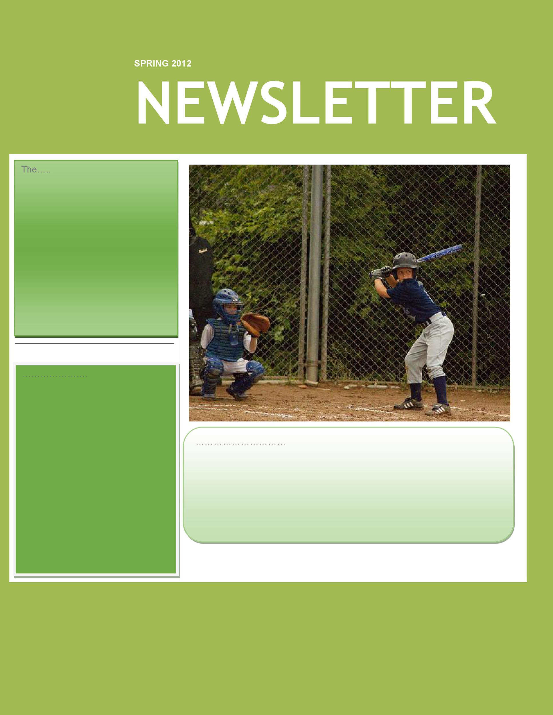 Free preschool newsletter template 42