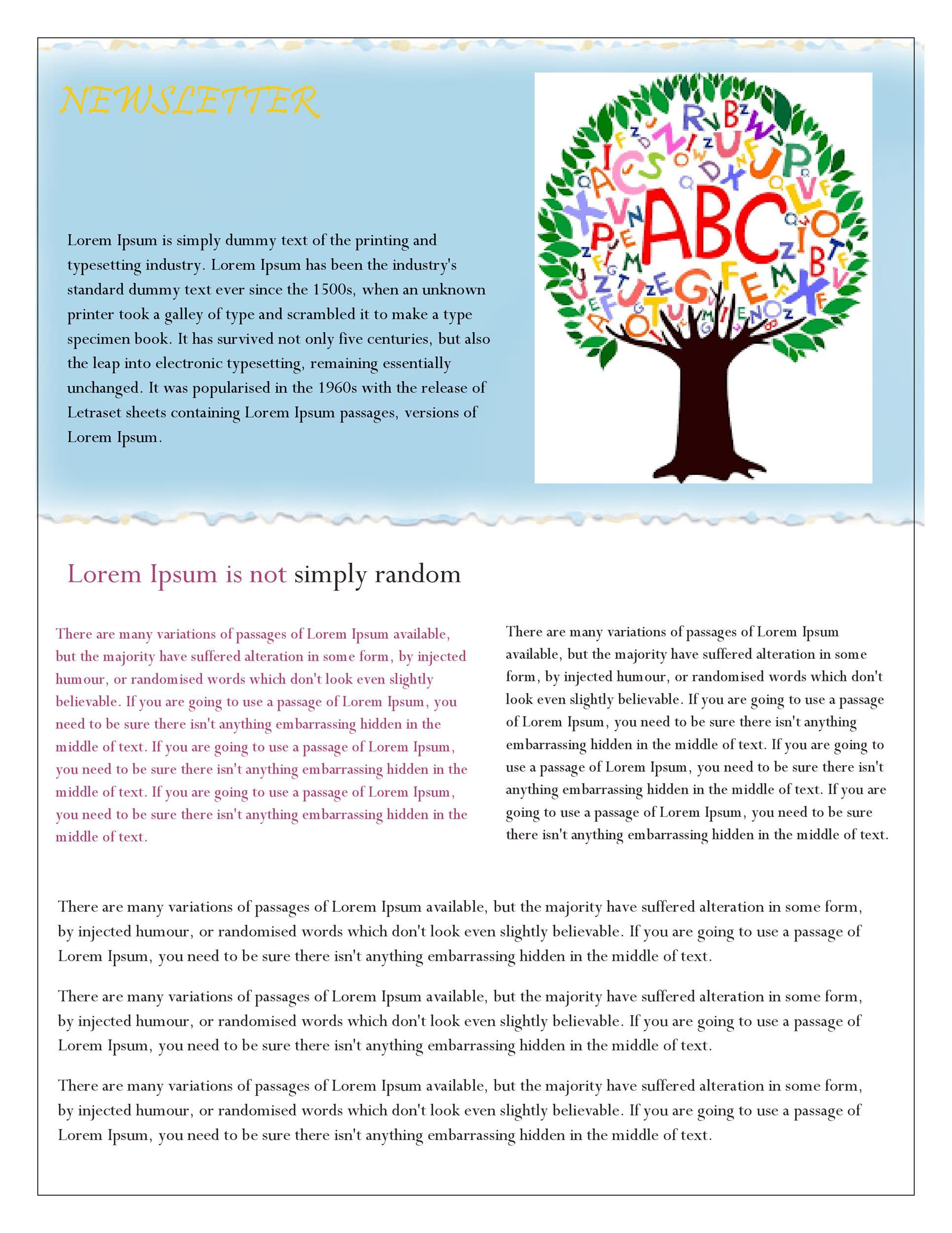 Free preschool newsletter template 43