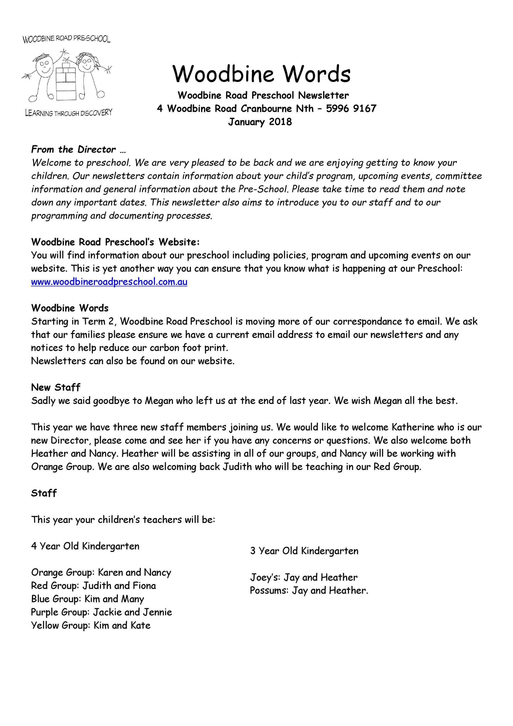 Free preschool newsletter template 44