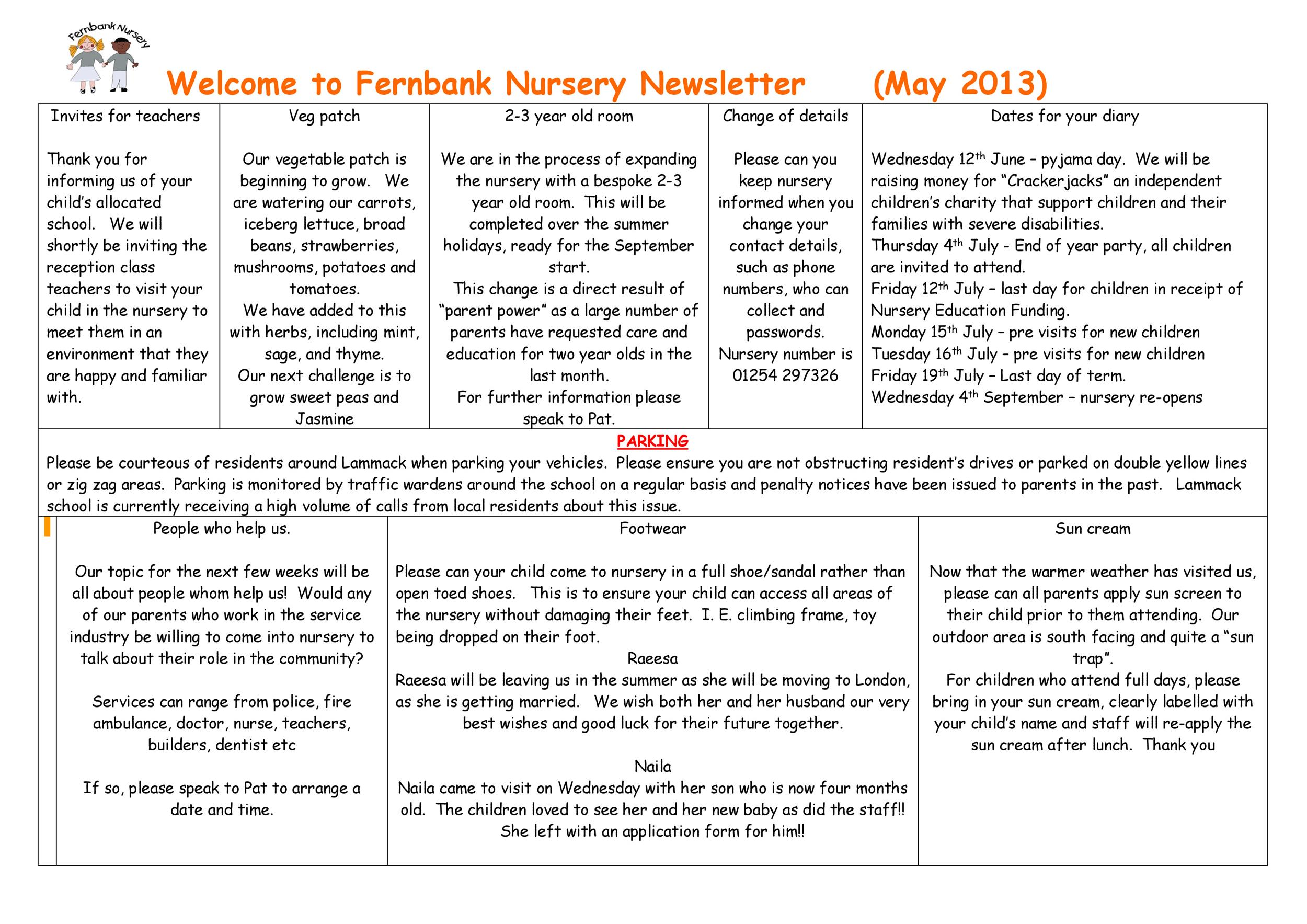 Free preschool newsletter template 48