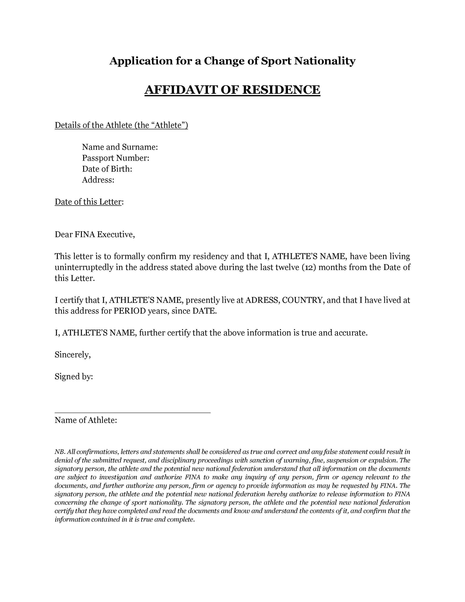 Free proof of residency letter 02