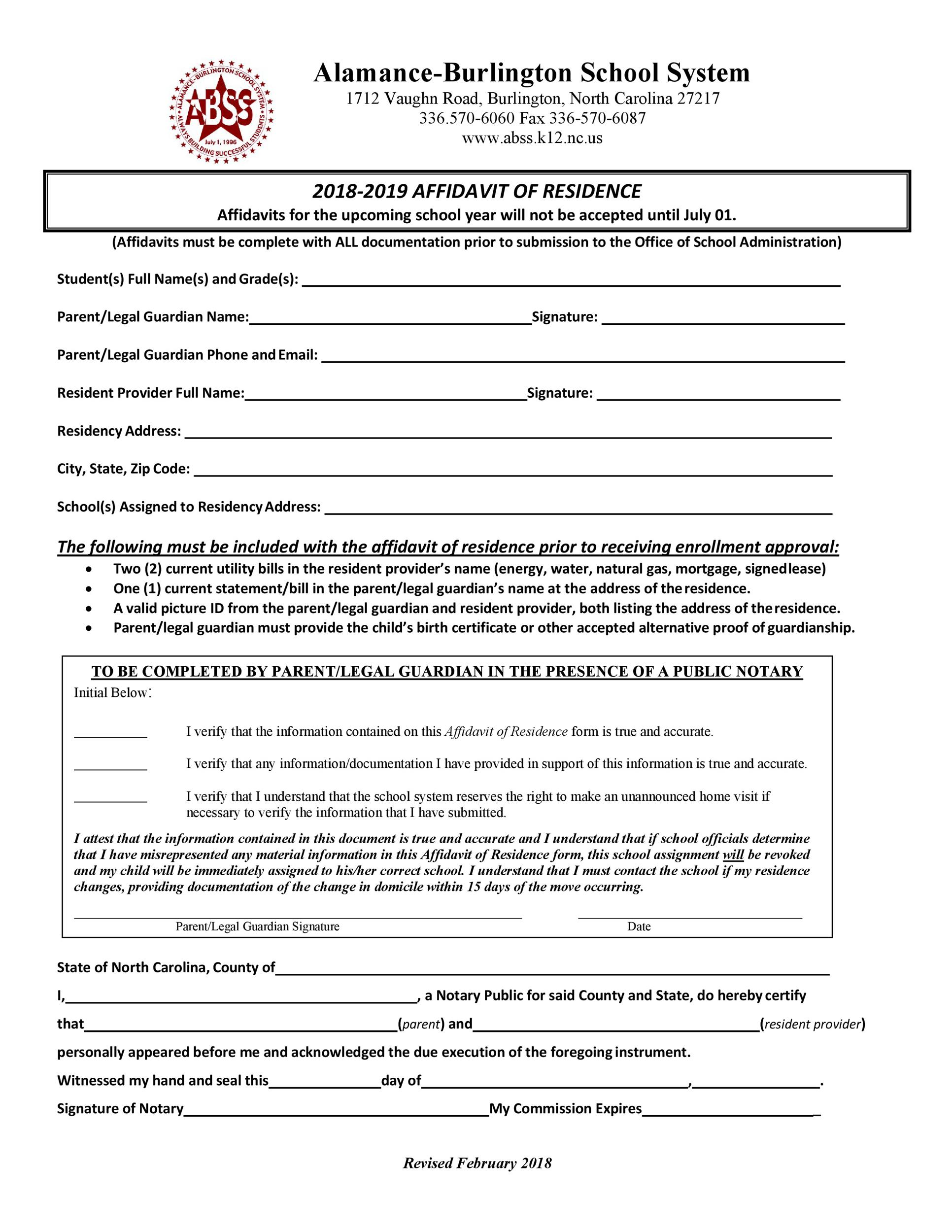 Free proof of residency letter 16