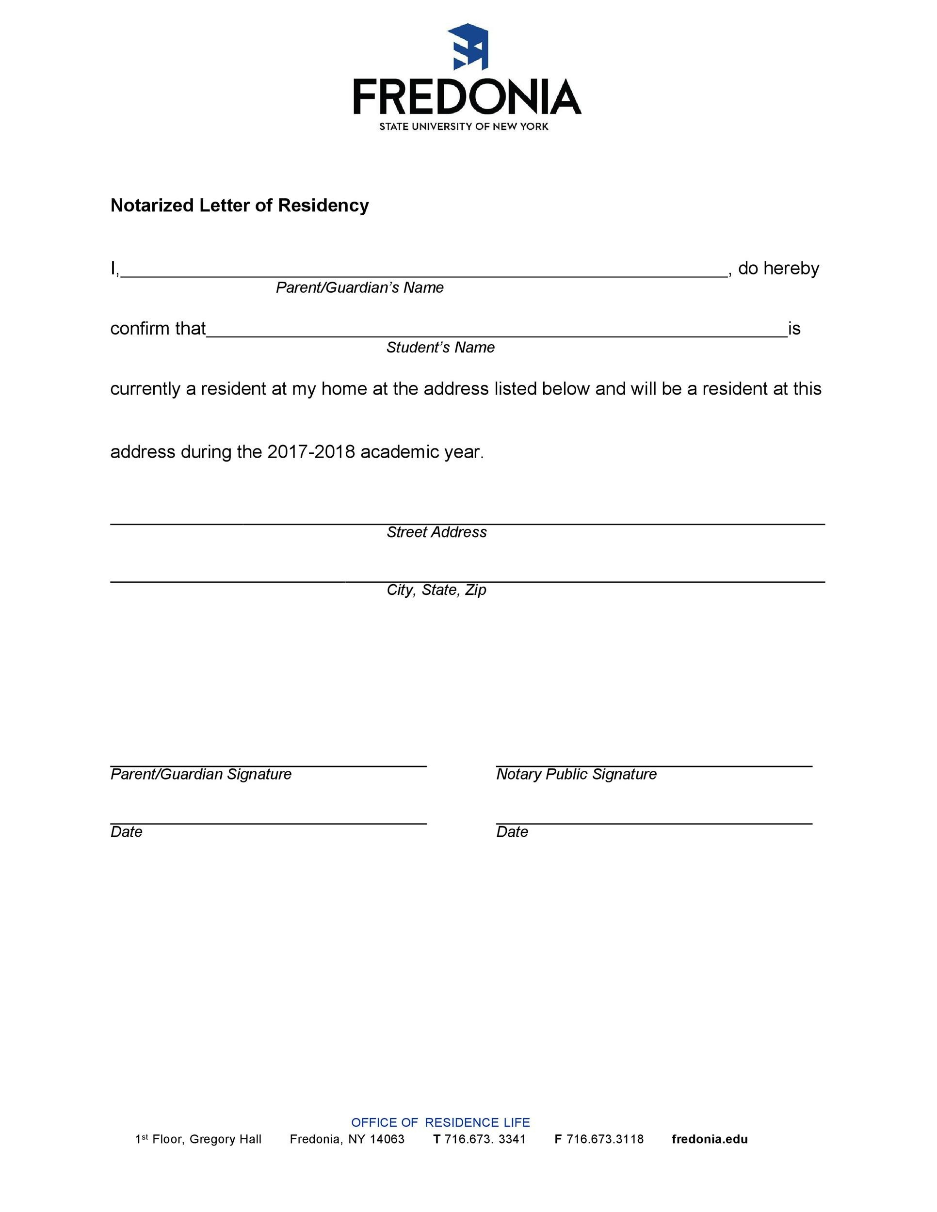 Free proof of residency letter 29