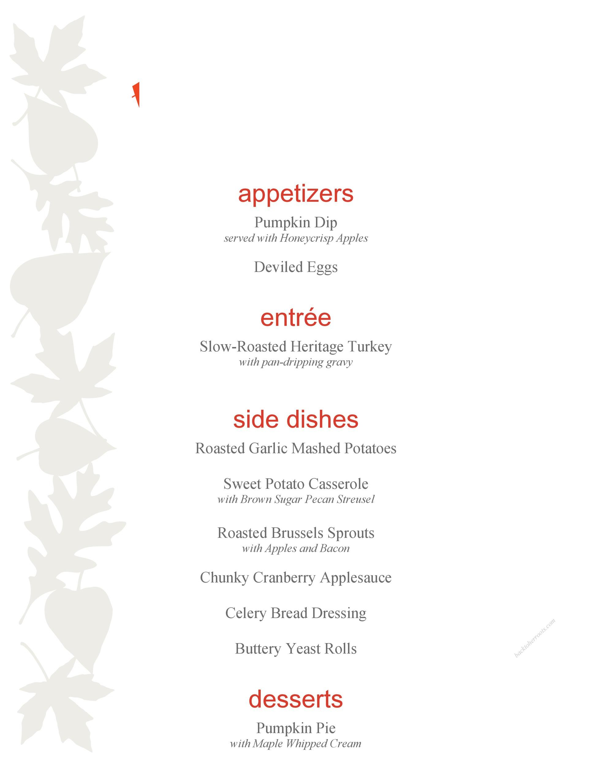 Free thanksgiving menu template 06