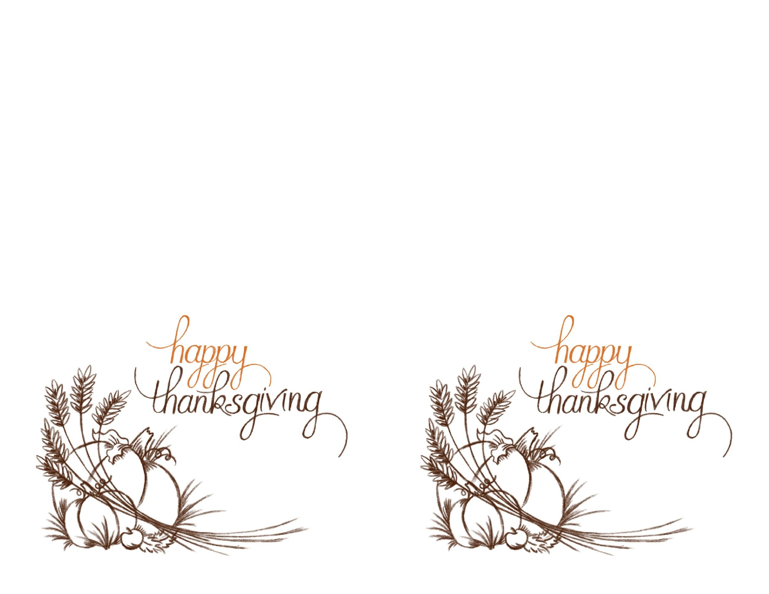 Free thanksgiving menu template 07