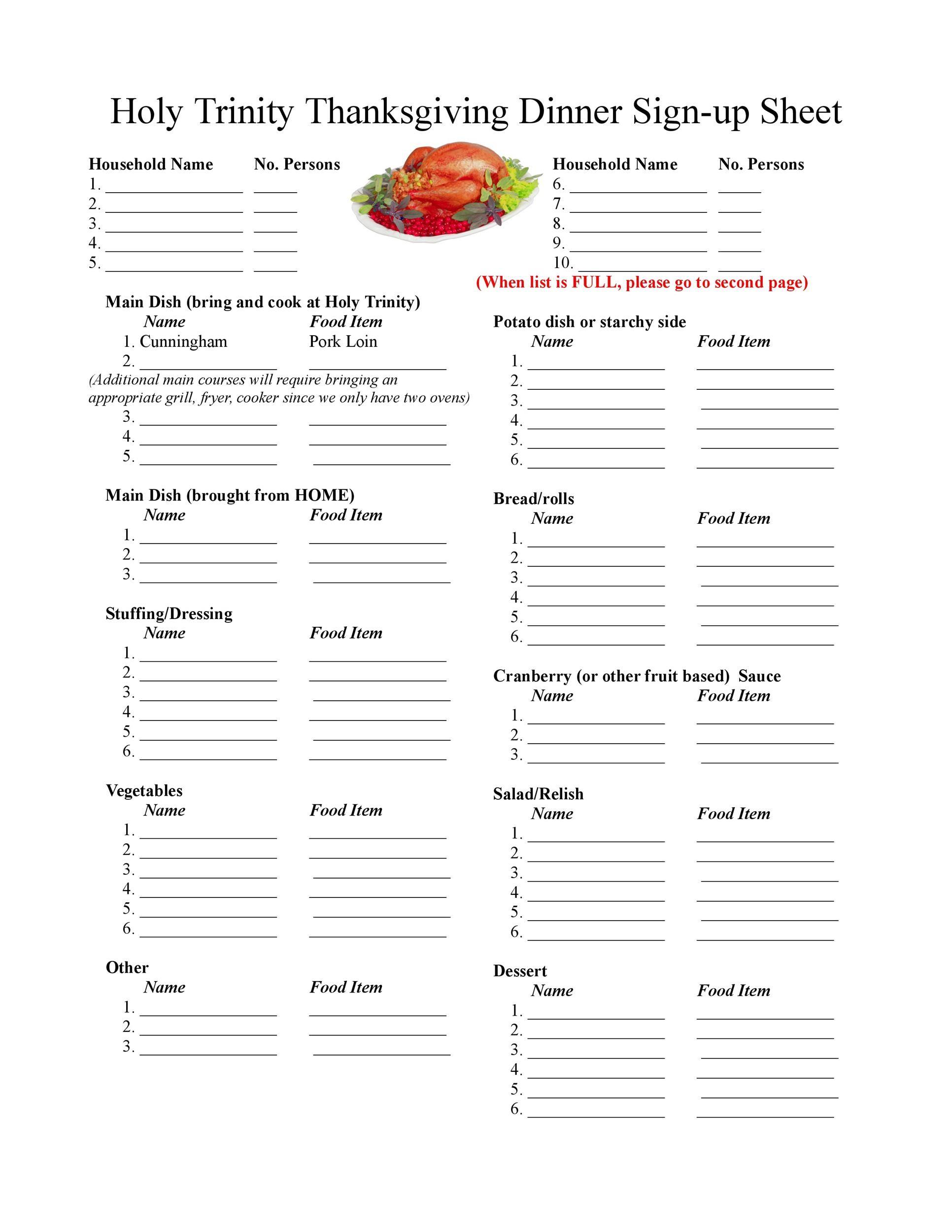 Free thanksgiving menu template 09