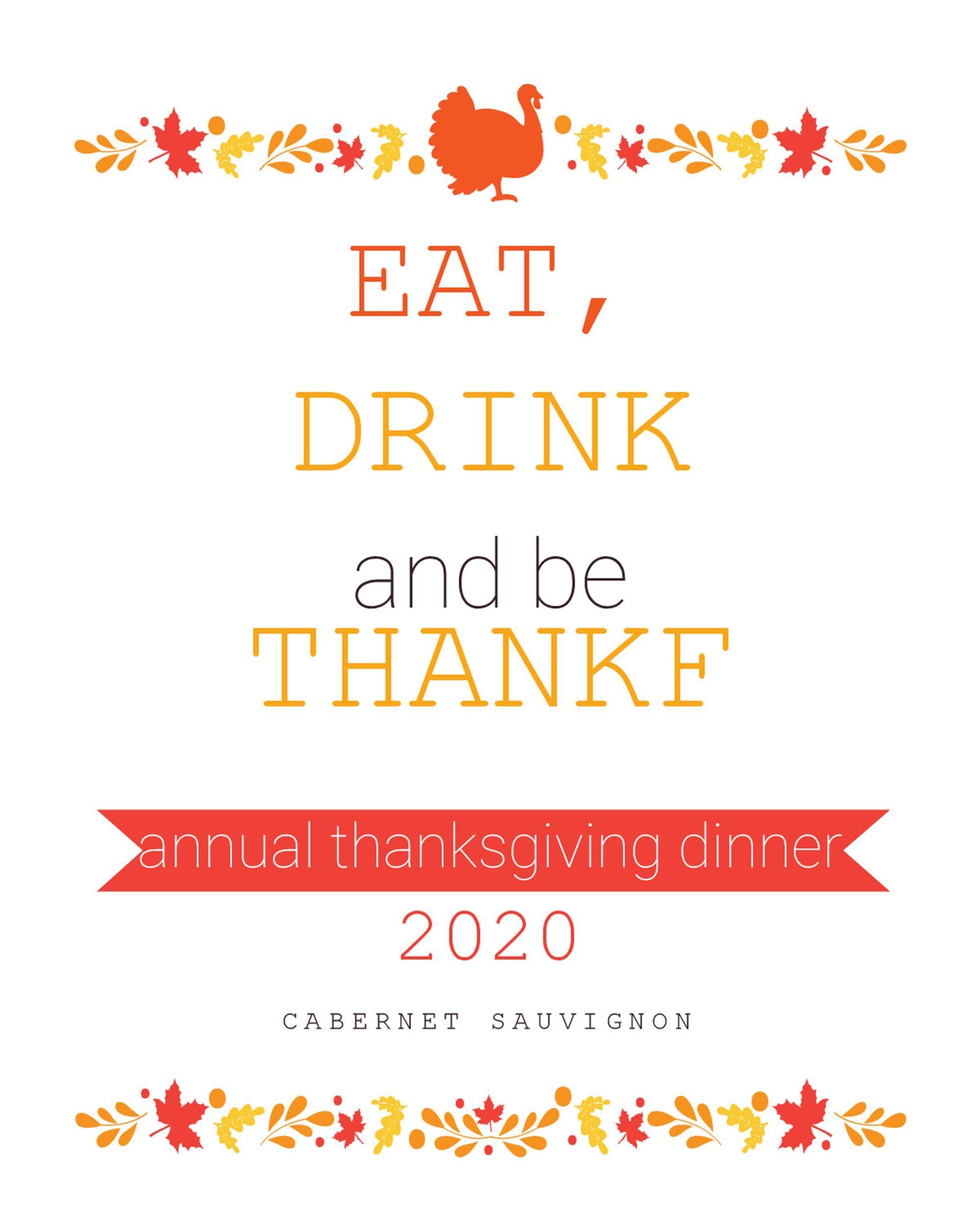 Free thanksgiving menu template 14