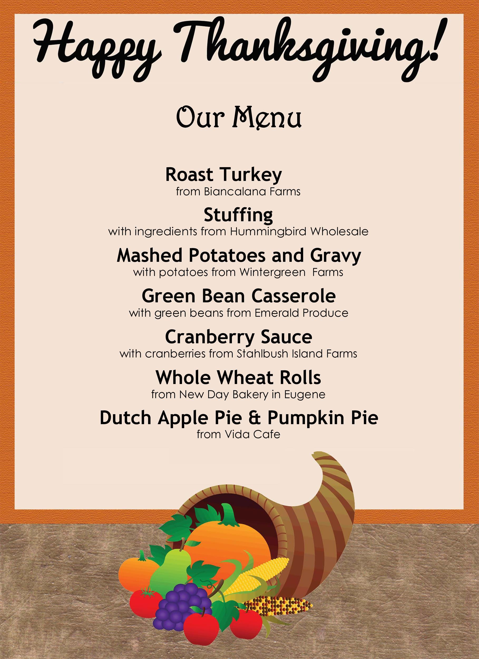 Free thanksgiving menu template 17
