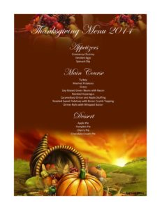 thanksgiving menu template 18