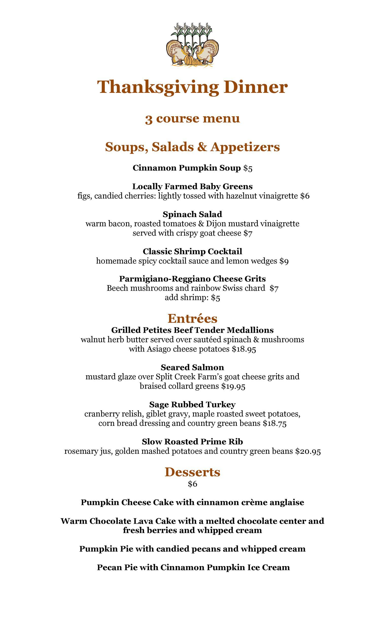 Free thanksgiving menu template 24
