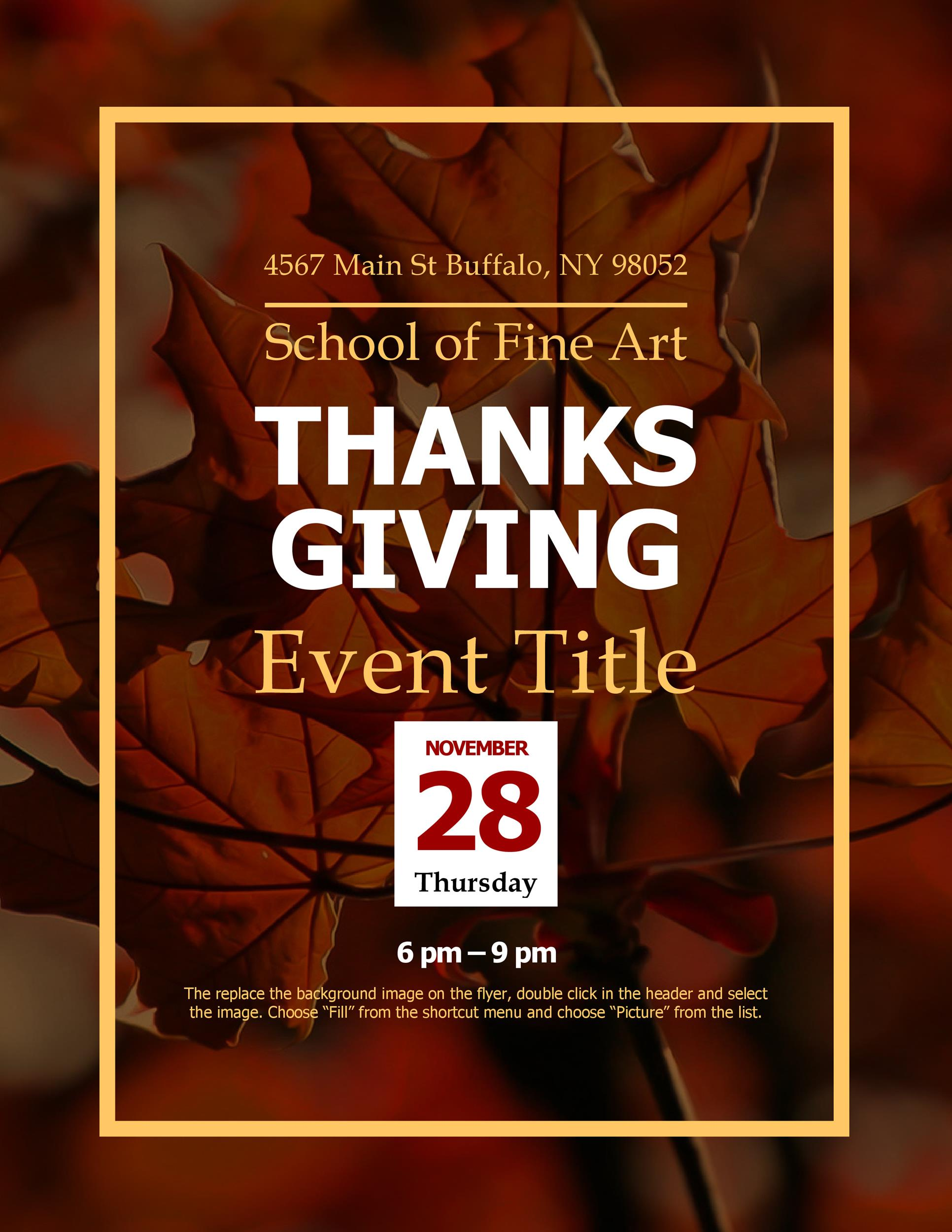 Free thanksgiving menu template 32