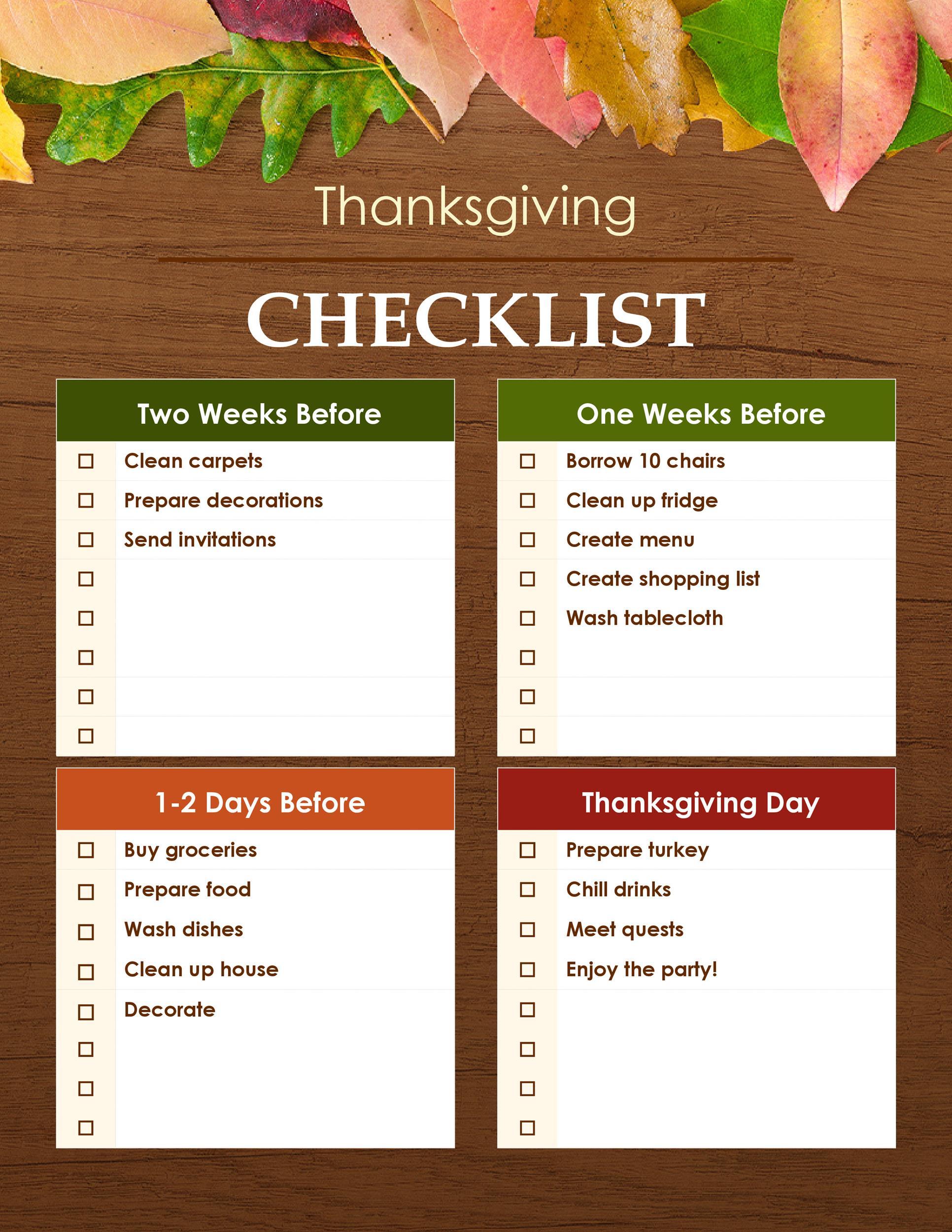 Free thanksgiving menu template 33