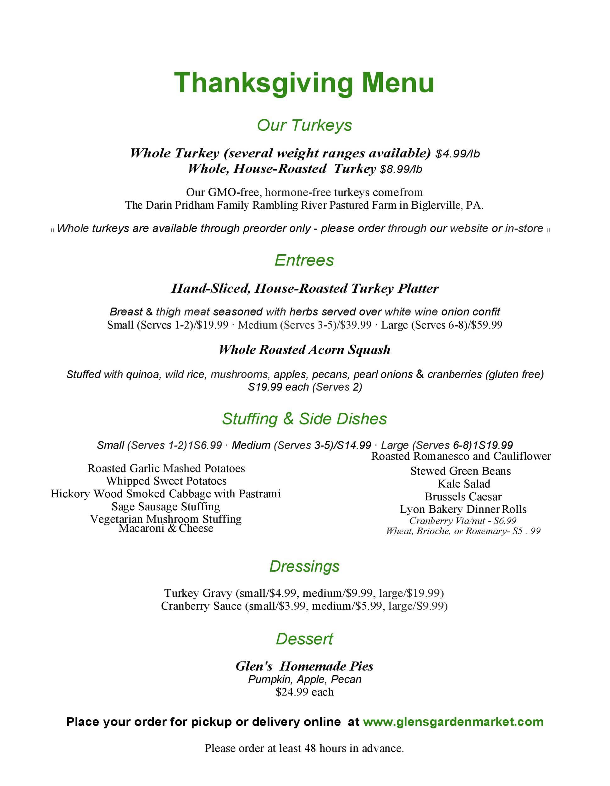 Free thanksgiving menu template 35