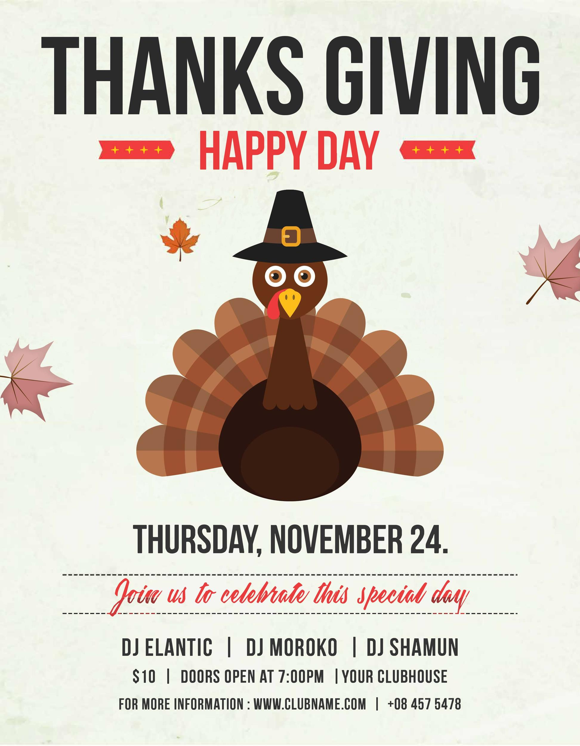 Free thanksgiving menu template 36