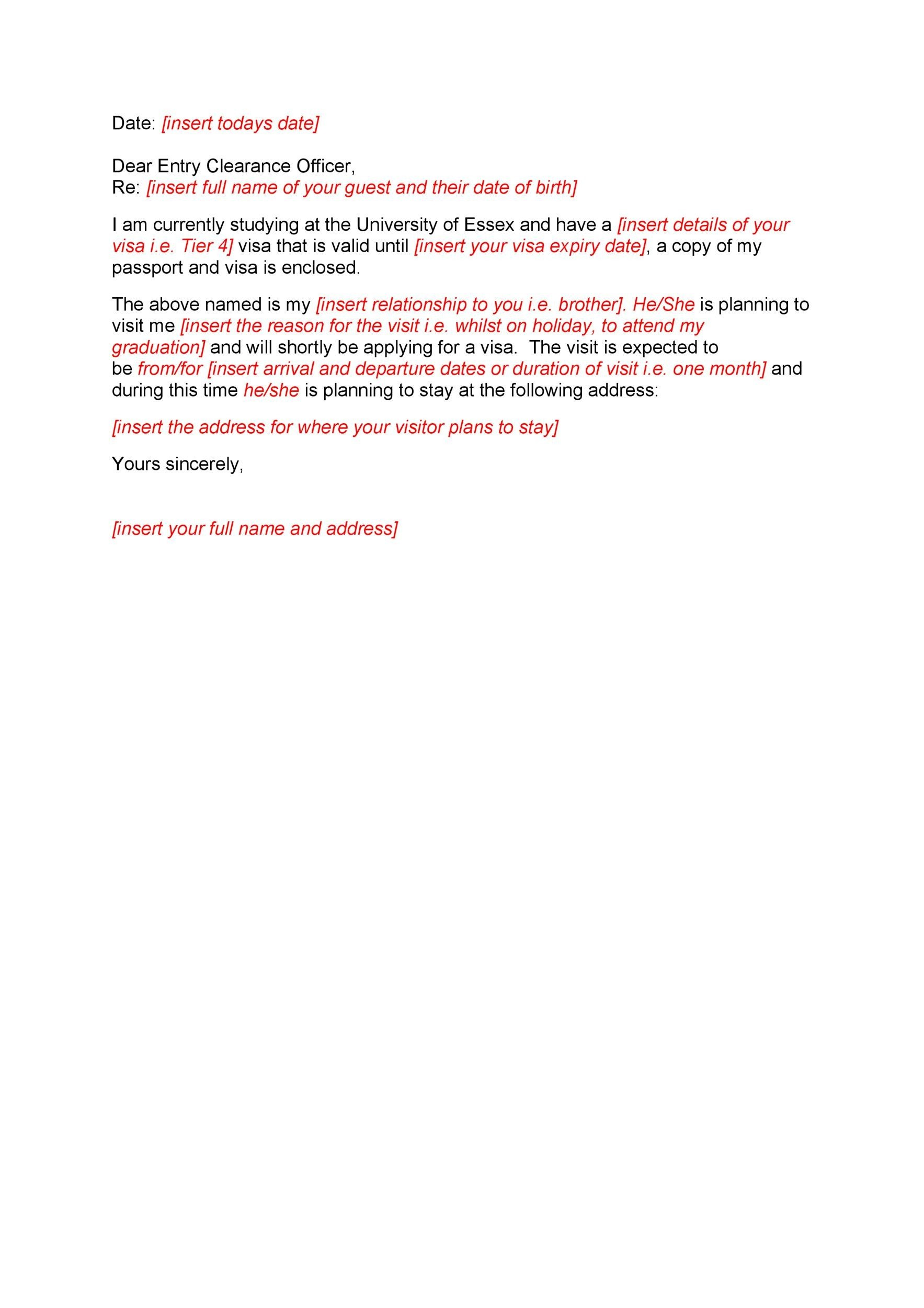 Free Immigration letter 07