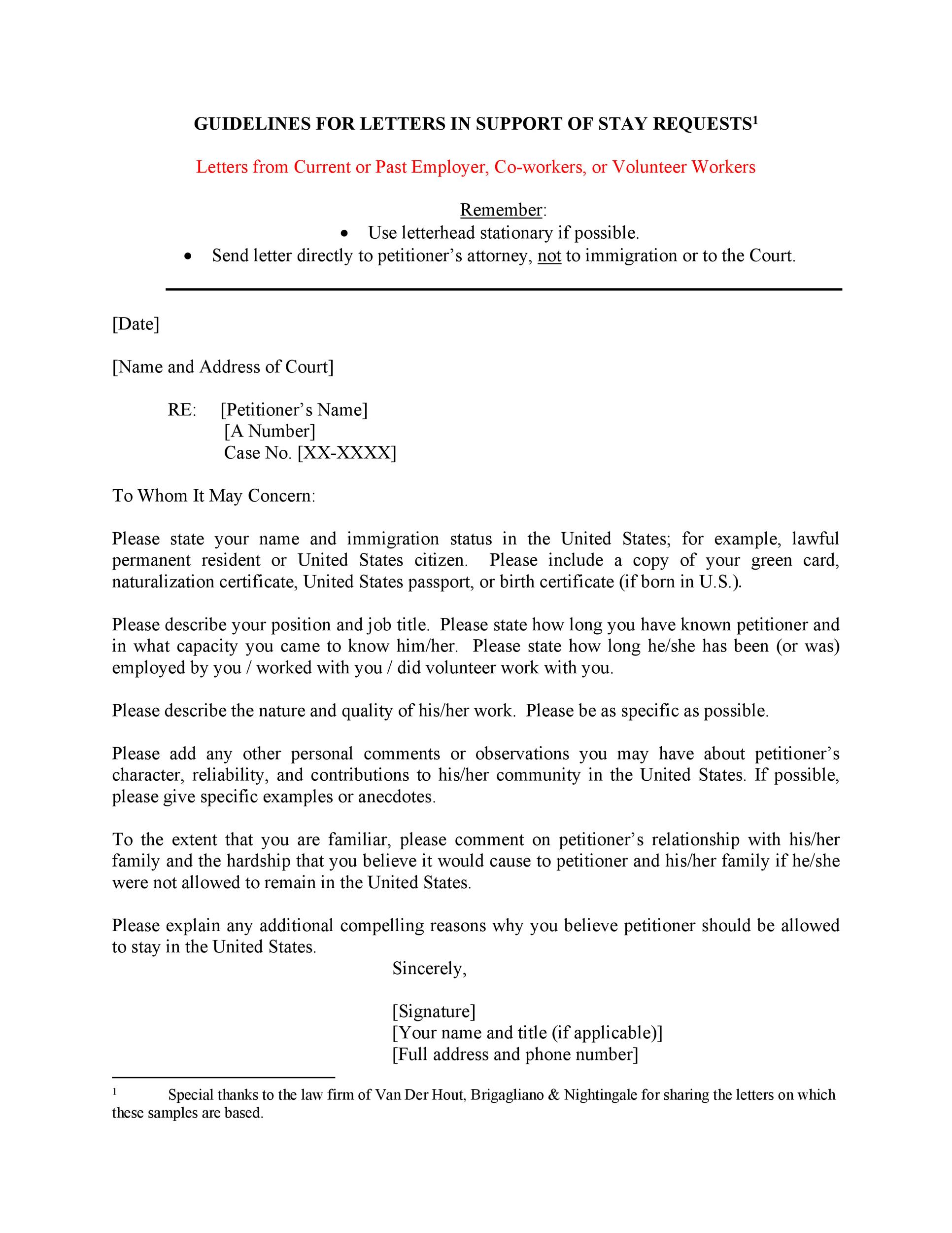 Free Immigration letter 08