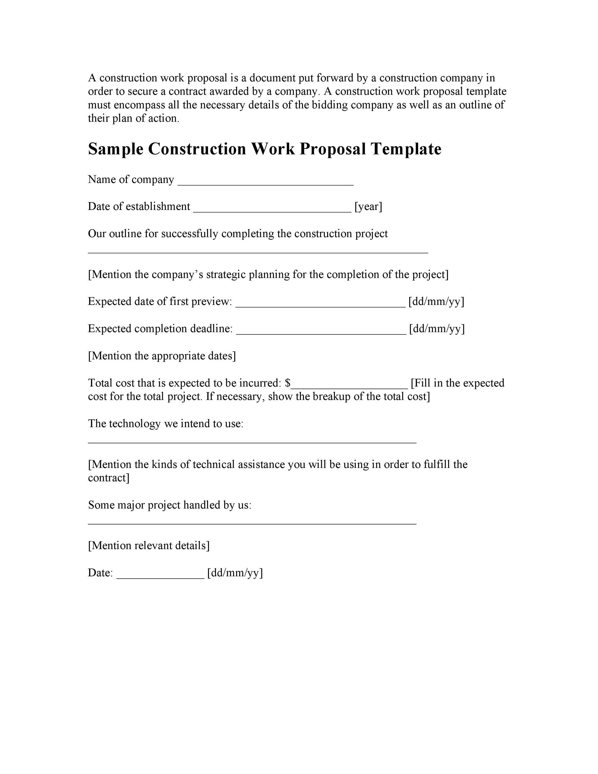 Free Job Proposal Template 04