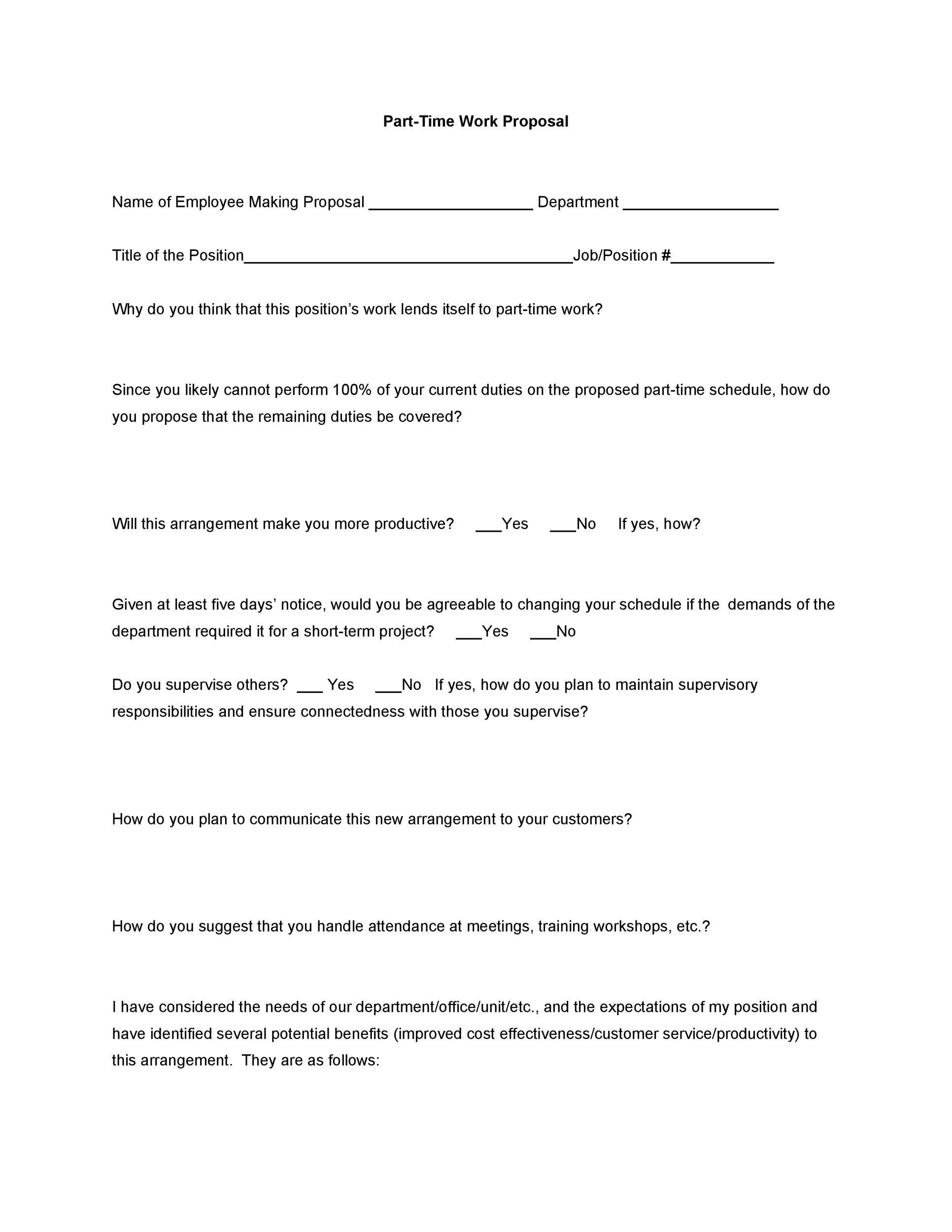 Free Job Proposal Template 09