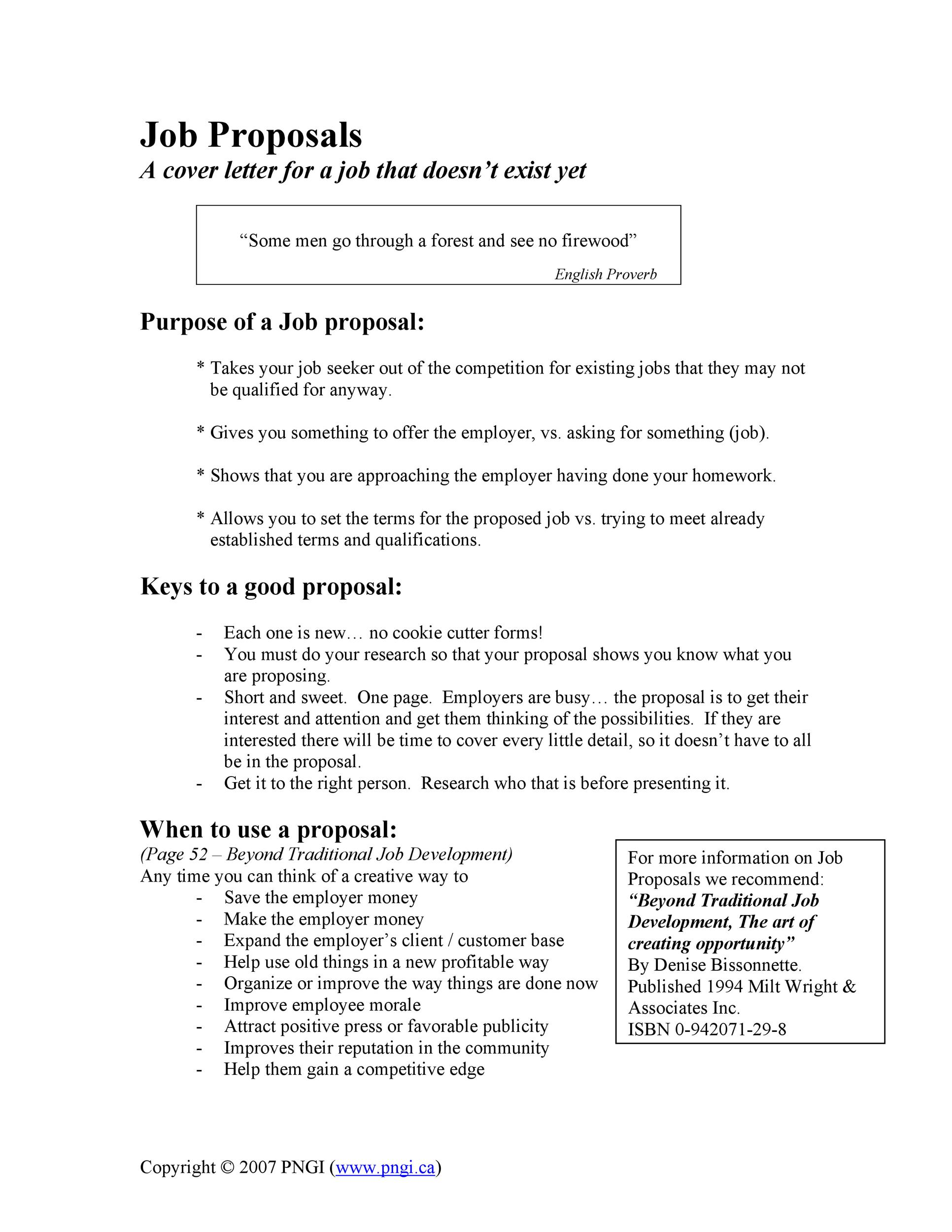 Free Job Proposal Template 13