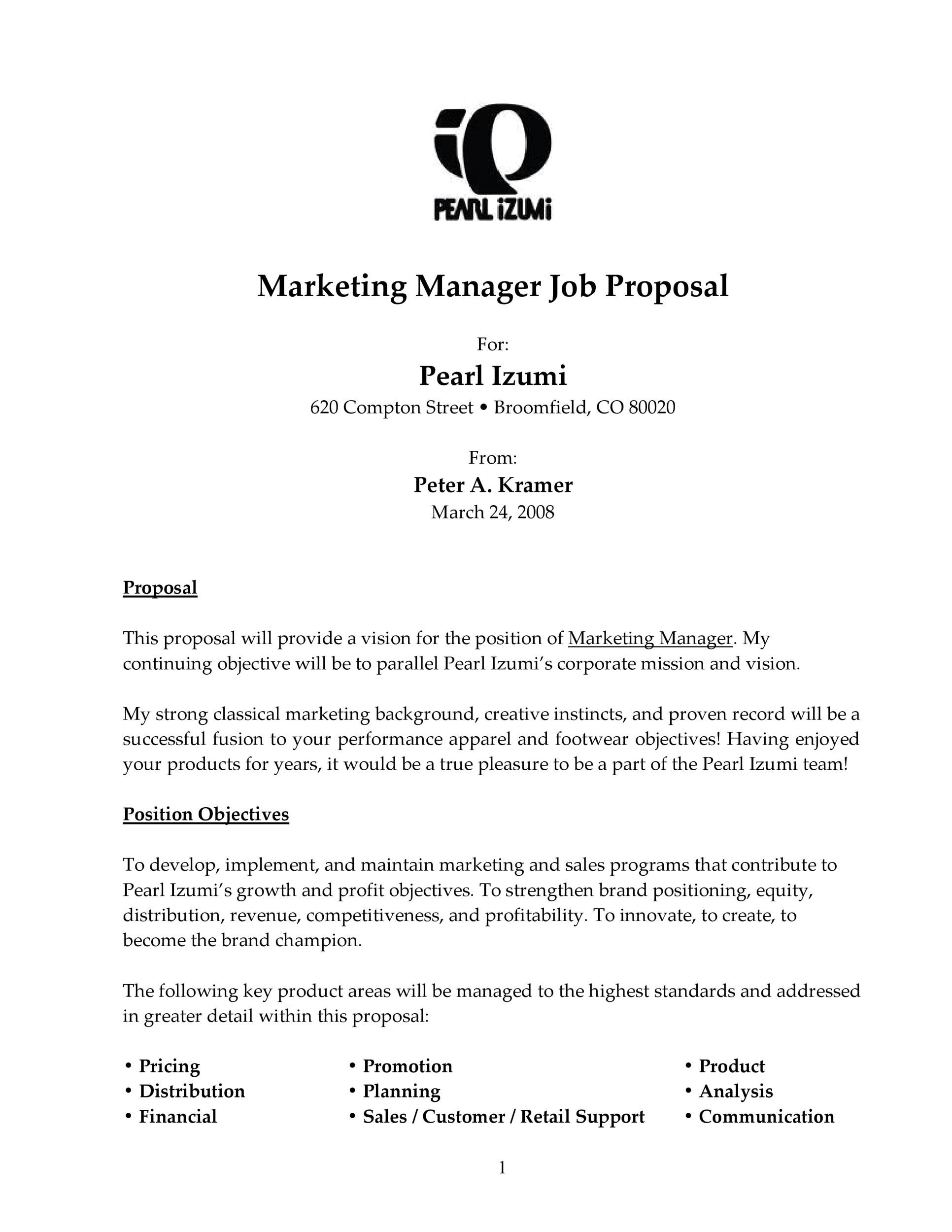 Free Job Proposal Template 16